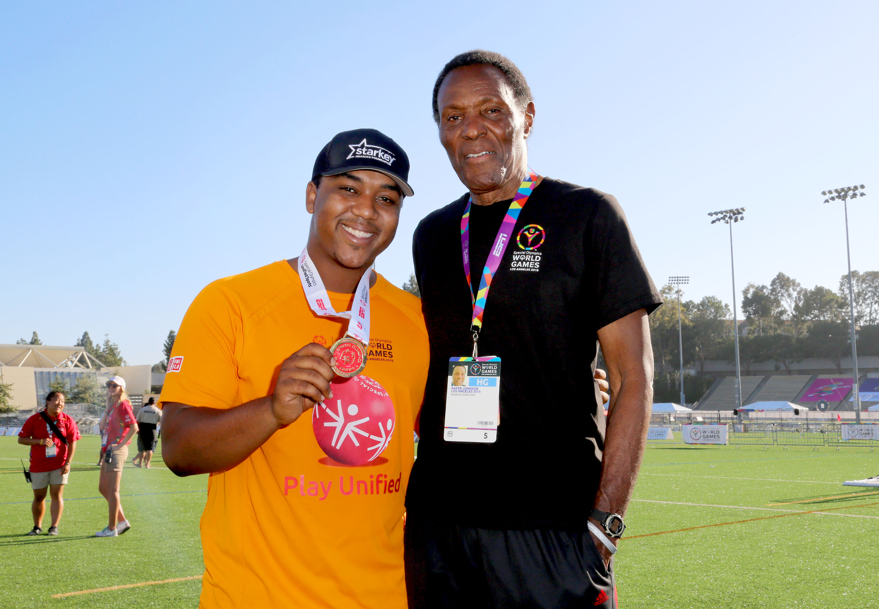 Starkey Hearing Foundation Ambassadors Kyle And Chris Massey Participate In The Special Olympics Unified Sports Experience Football Game