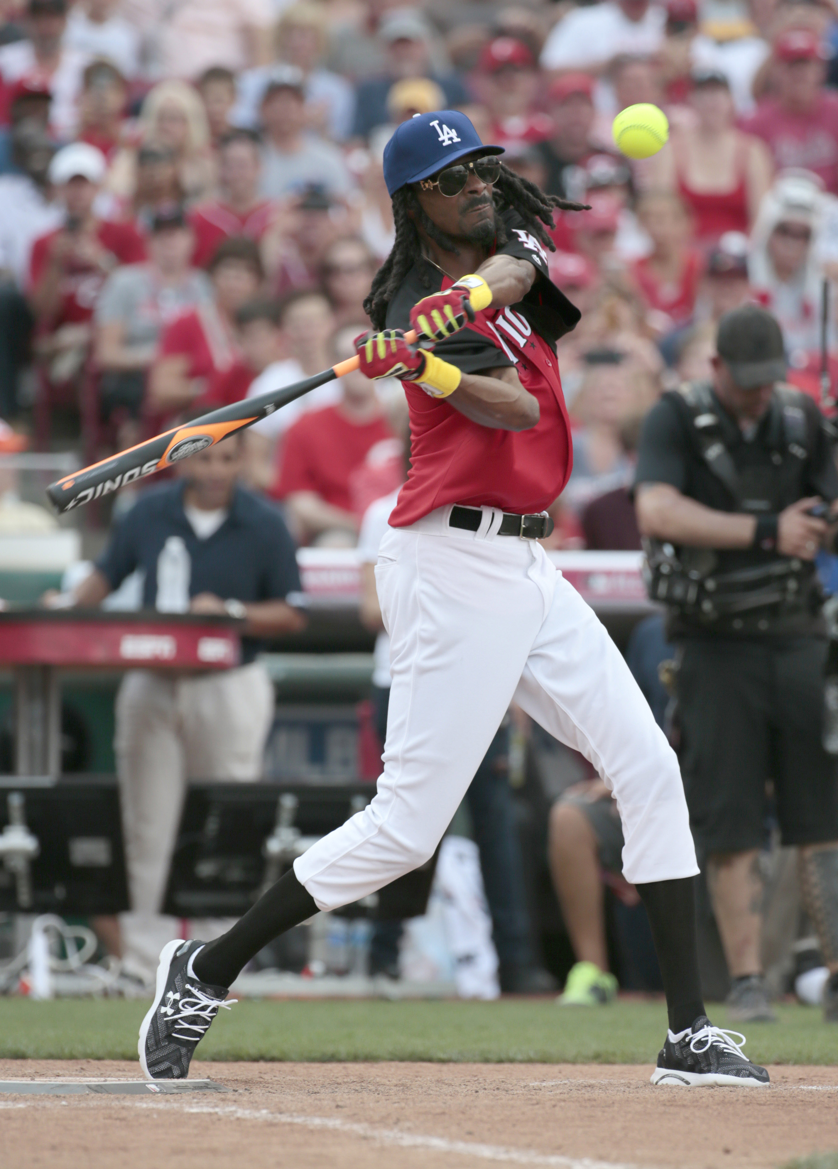 We didn't have any Virginia Softball pictures in our Getty/USA TODAY subscriptions, so here's one of Snoop Dogg playing softball.