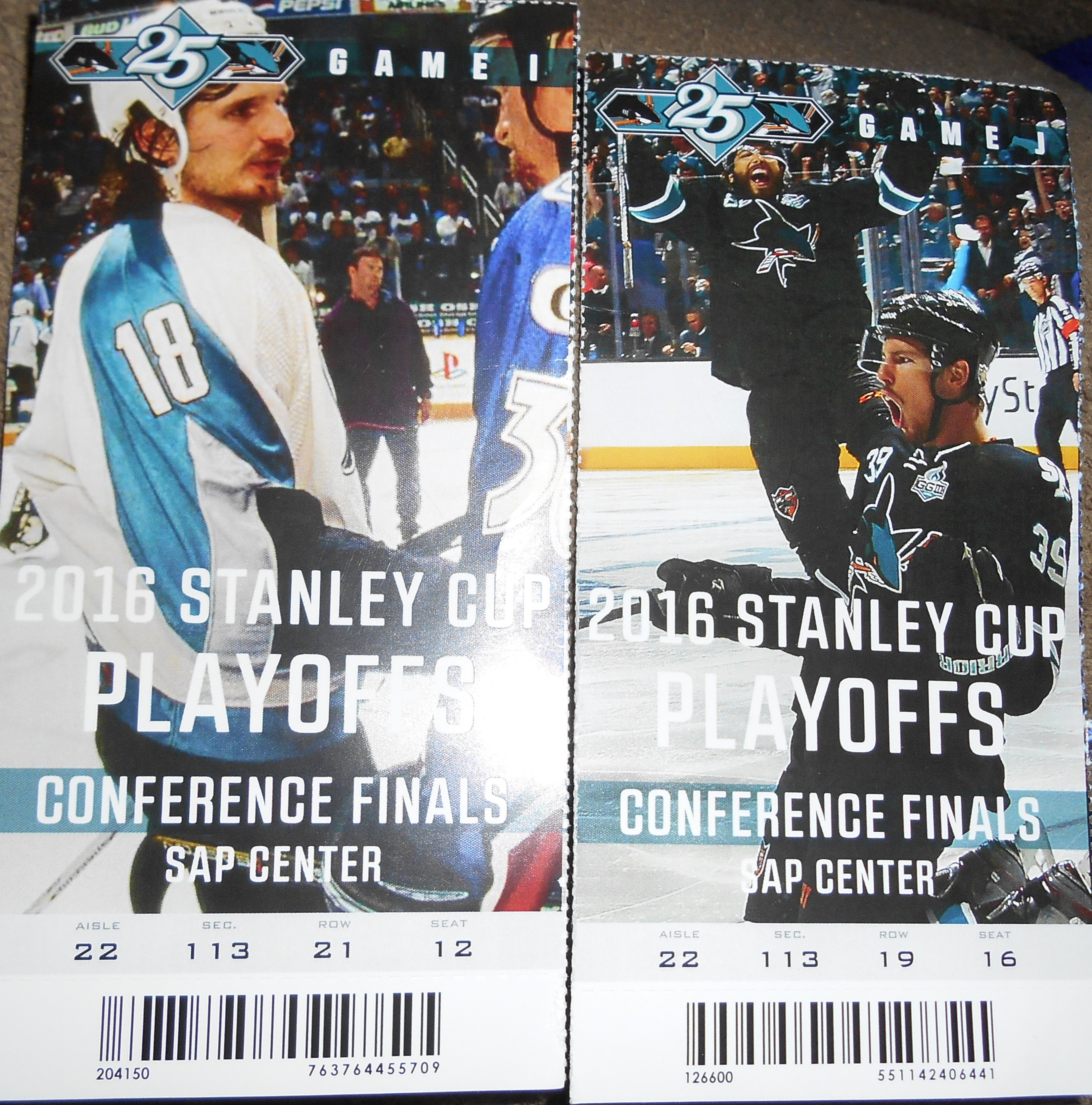 Tickets for games 3 and 4 in San Jose