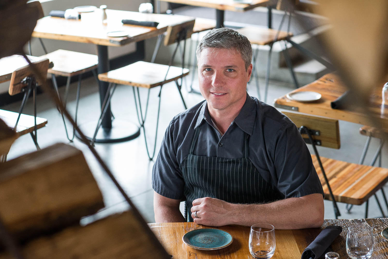Chef John Critchley at Brine