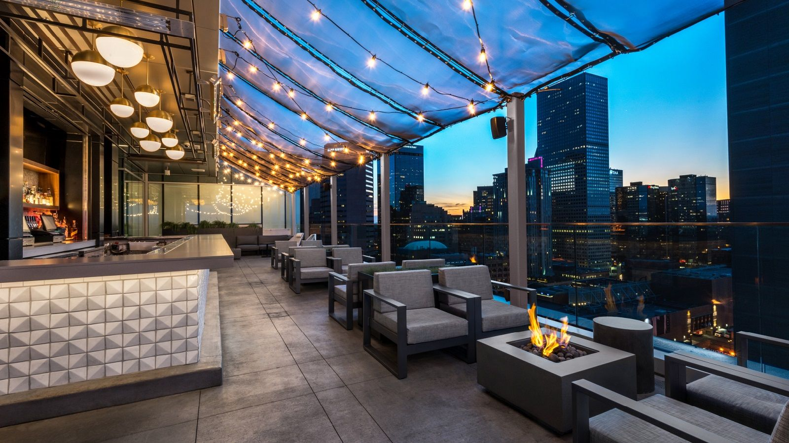 54Thirty rooftop bar at Le Meridien Downtown Denver