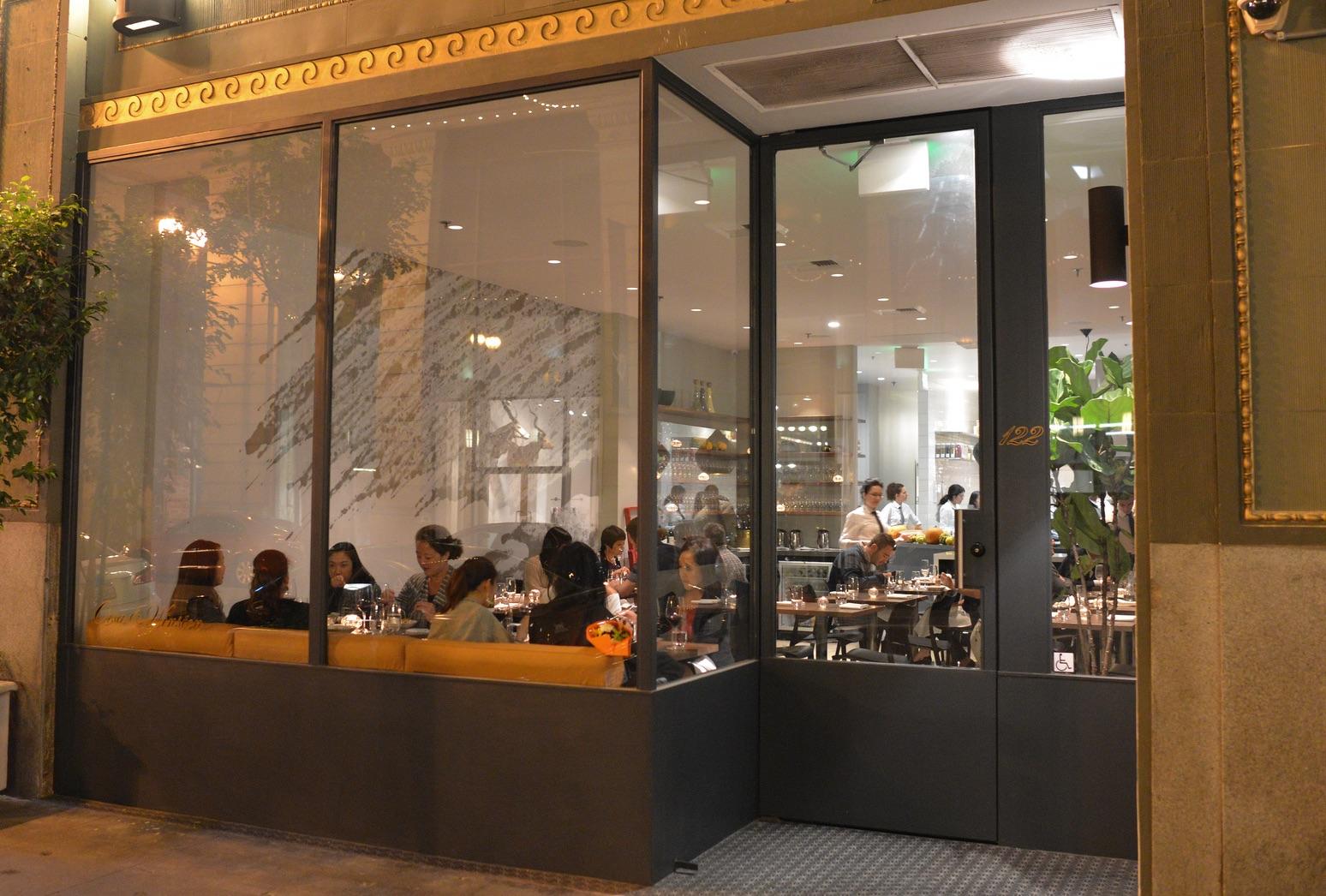 Outside Orsa & Winston, Downtown LA, surely a Michelin-worthy restaurant