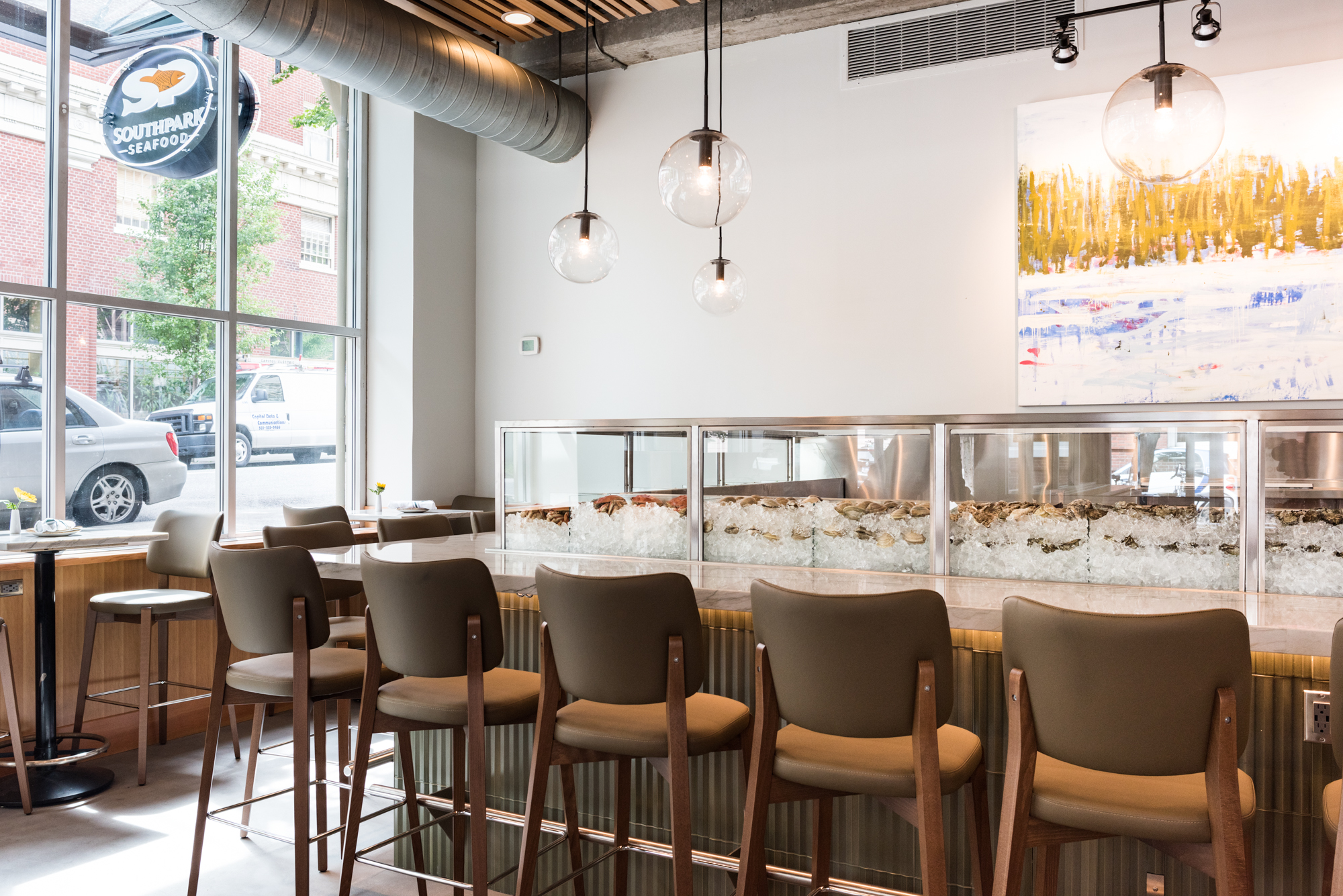 The new oyster raw bar at Southpark Seafood