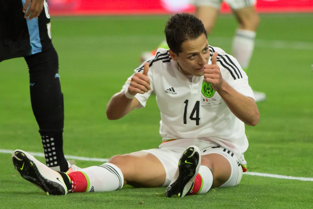 "Javier ""Chicharito"" Hernandez was happy with Sunday's result"