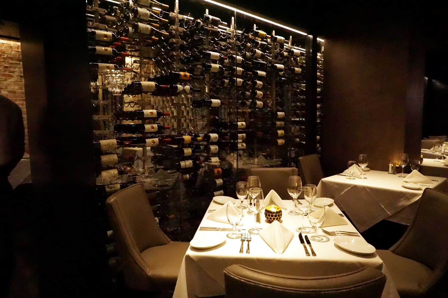 Refrigerated Wine Wall at Center City's Ruth's Chris Steak House