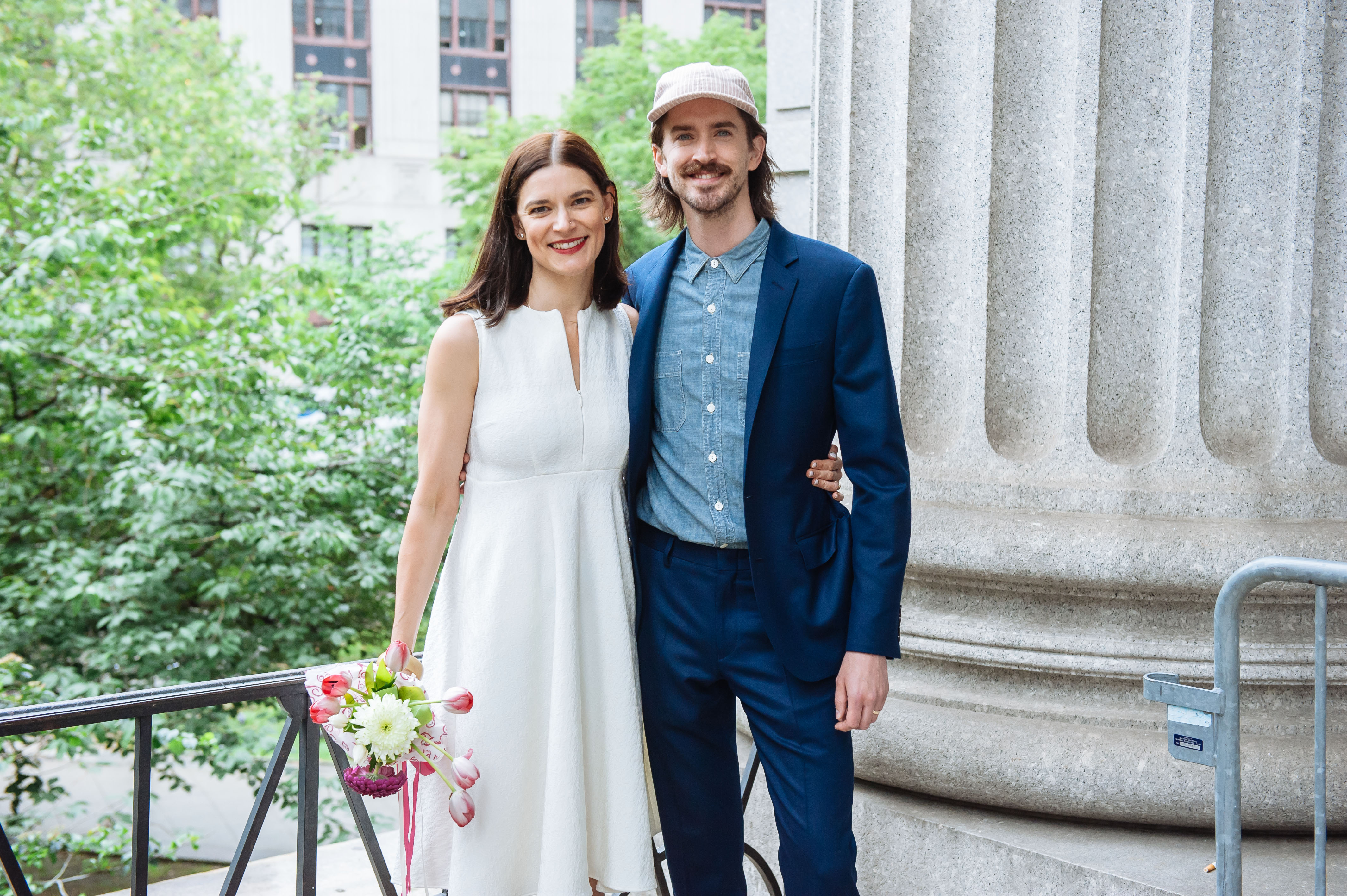 City hall wedding racked ny they found love at the spotted pig junglespirit Gallery