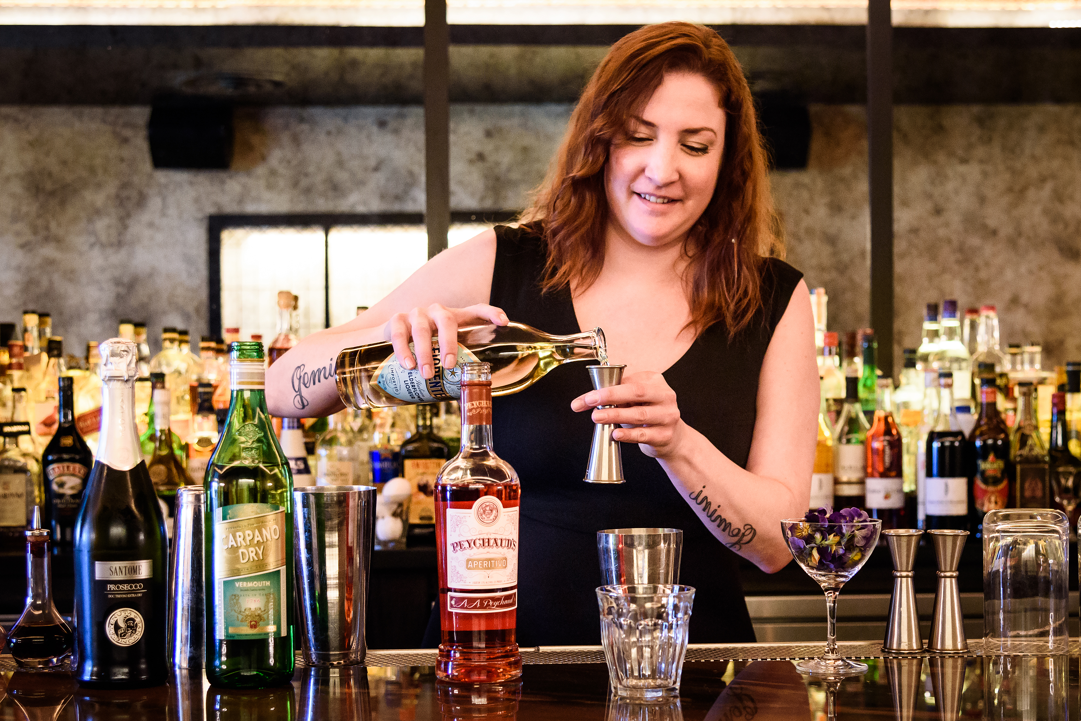 Cristiana DeLucca behind the bar at Formento's