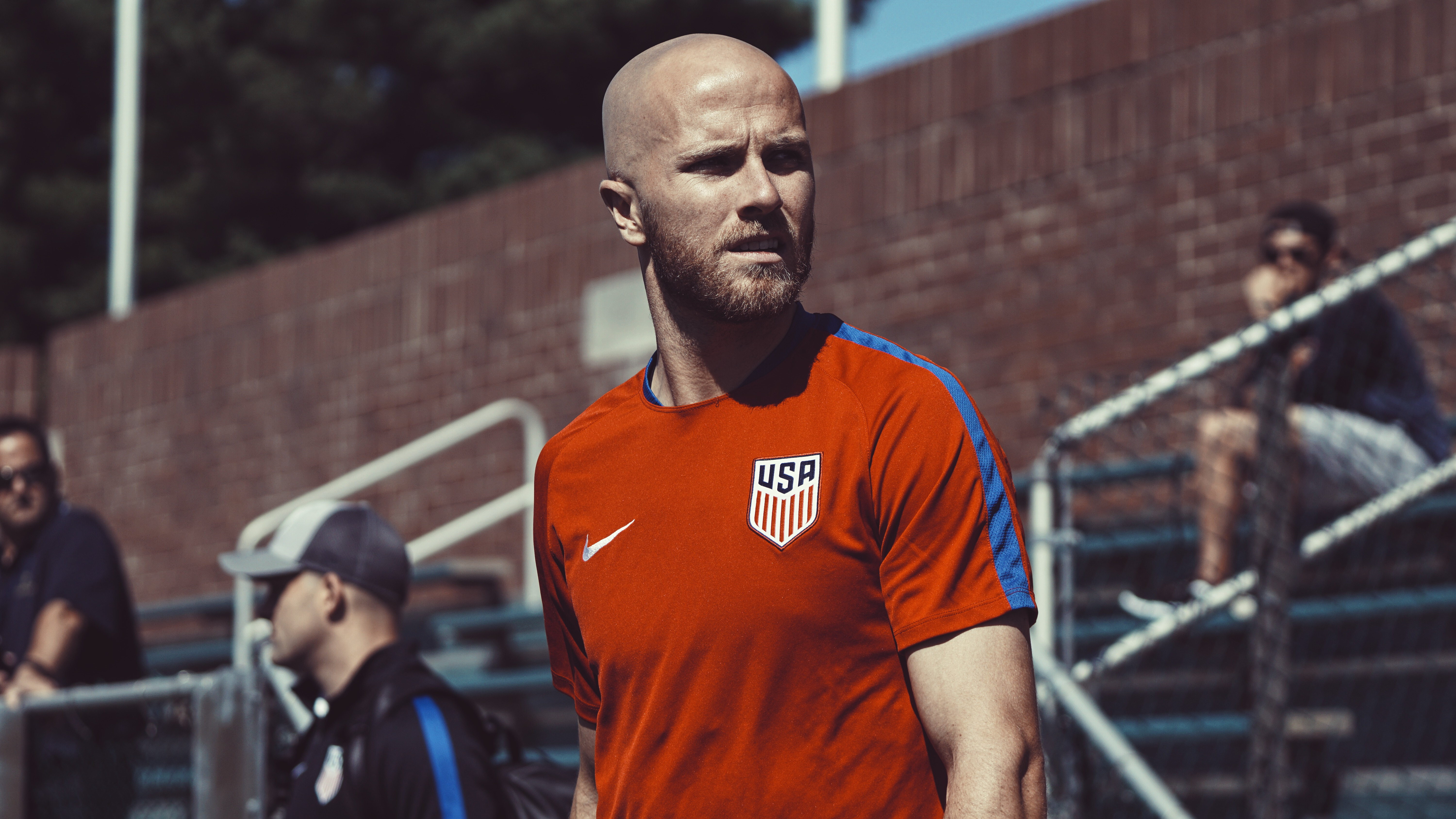 United States captain Michael Bradley at practice ahead of the USMNT's Copa América match against Paraguay.