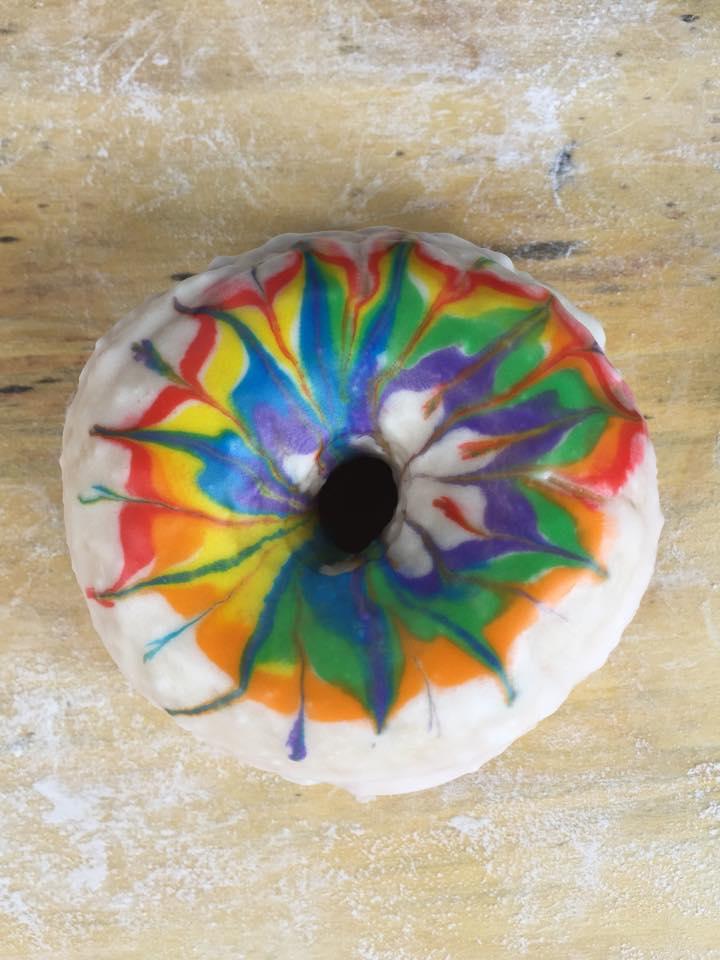 Blackbird Doughnuts rainbow doughnut