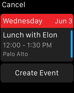 Fantastical calendar app for Apple Watch