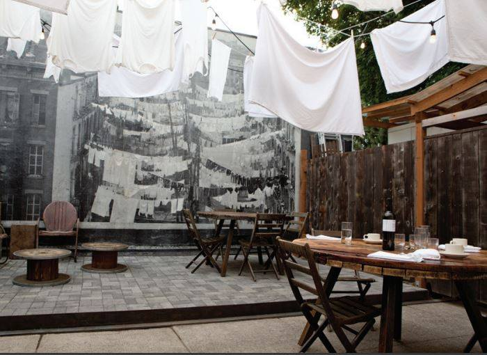 The Nonna patio