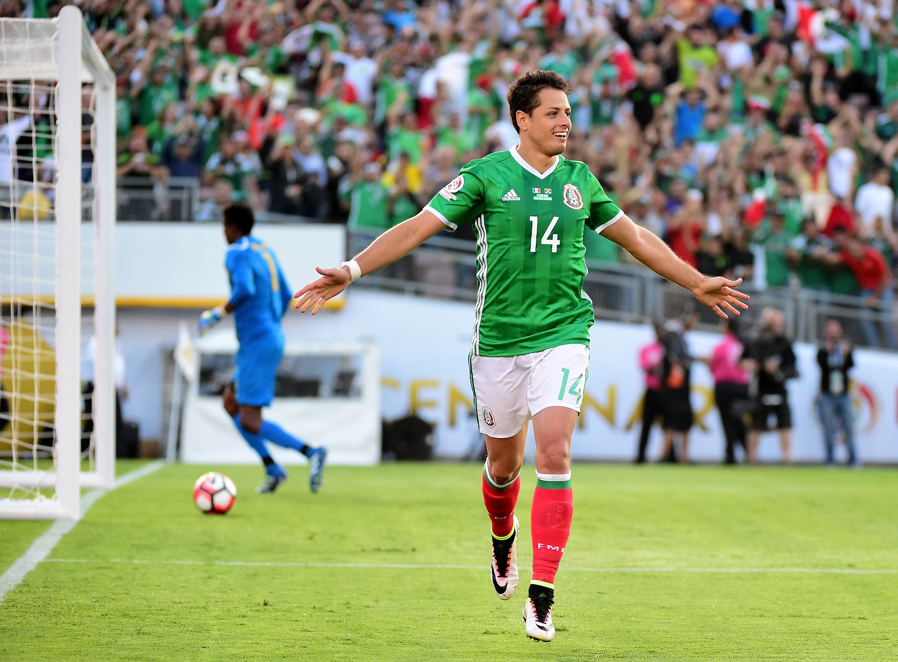 Chicharito (45) is one goal behind Jared Borgetti (46) for the all time Mexico scoring lead.