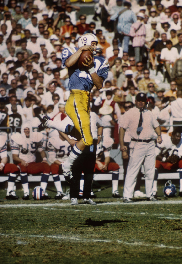 Lance Alworth, aka Bambi, leaping for a pass