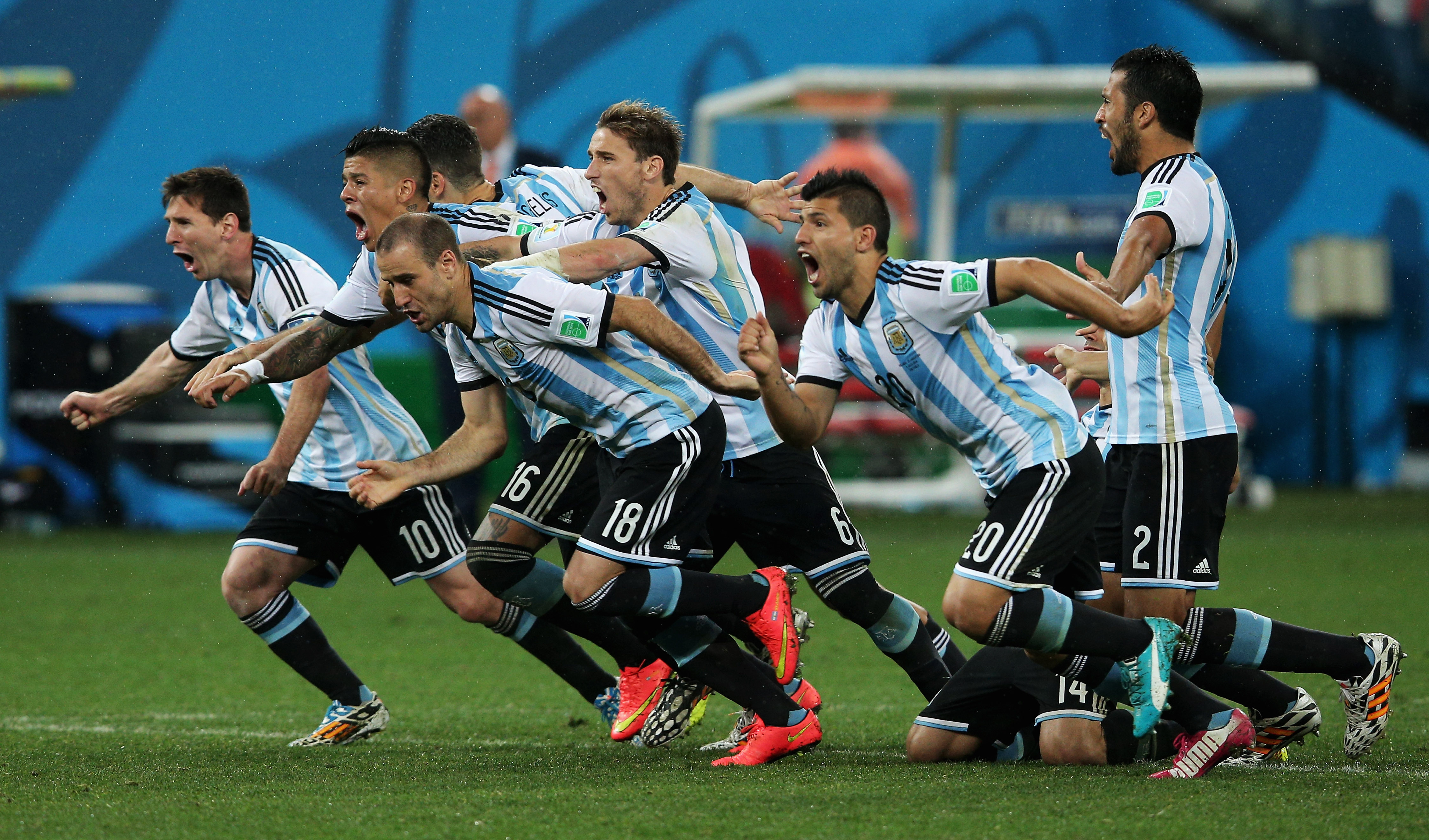 Messi and Argentina are ready to run onto the CenturyLink pitch.