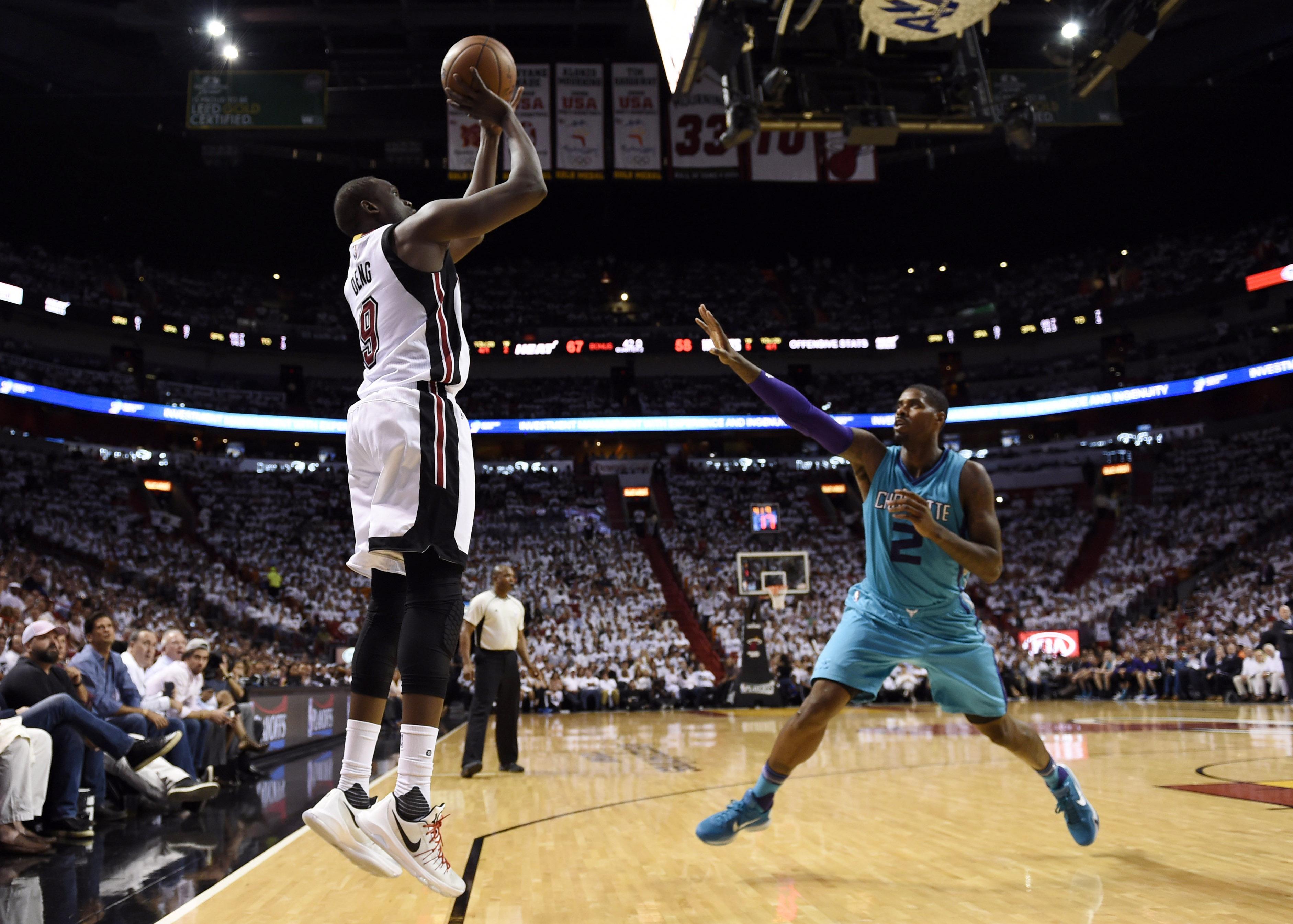 NBA: Playoffs-Charlotte Hornets at Miami Heat