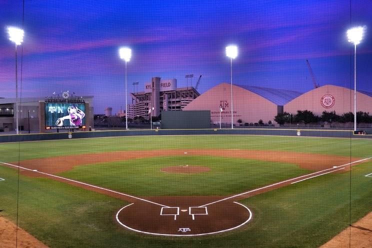 Olsen Field wide night