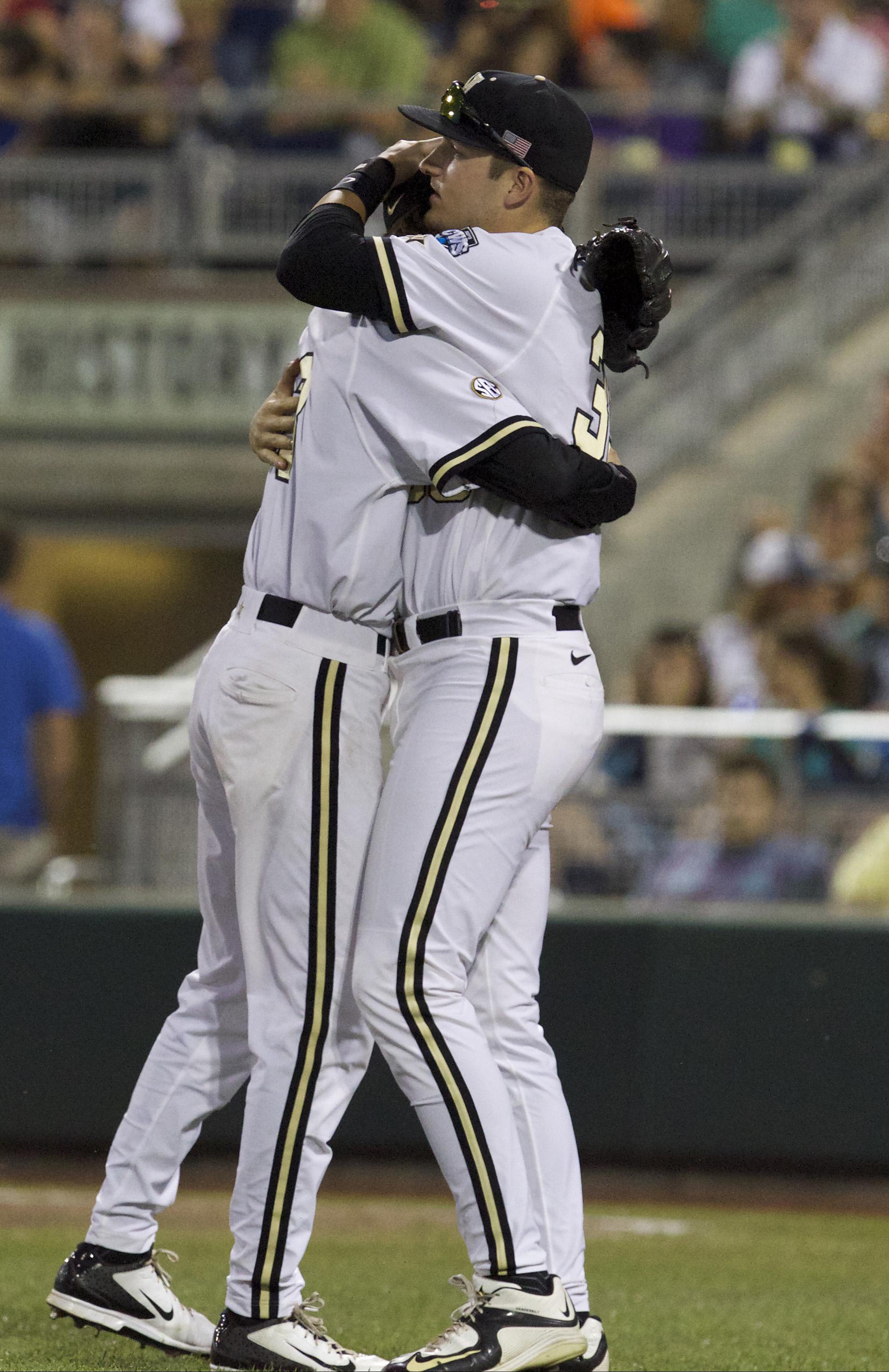 Man hugs all around!