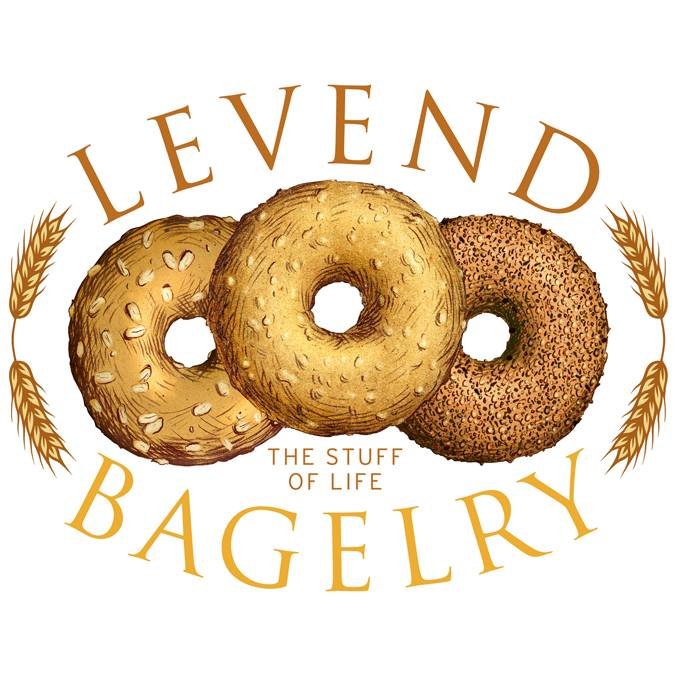 Levend Bagelry logo by David Freedman and Tim Robinson