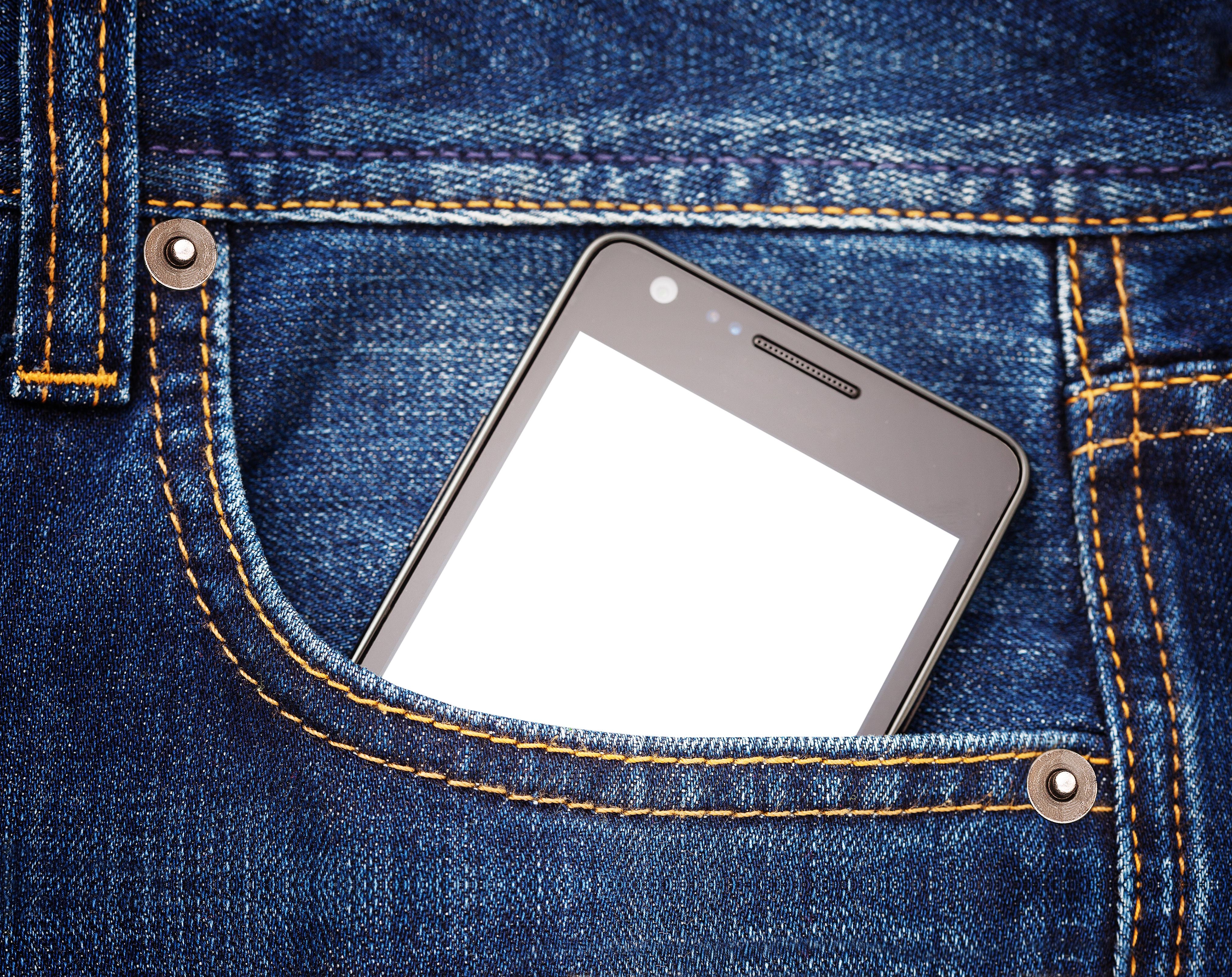 jeans pocket computer smartphone
