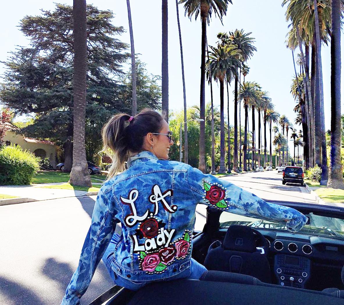 Blogger wearing Jaydee customized jacket