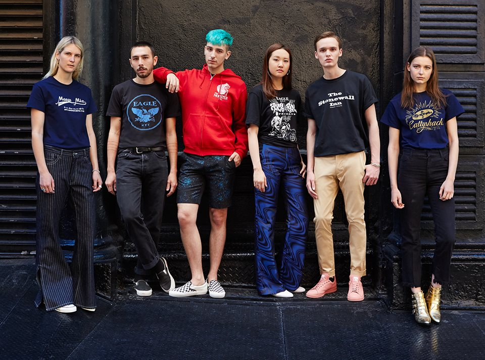 Men and women in Opening Ceremony's Pride collection for 2016