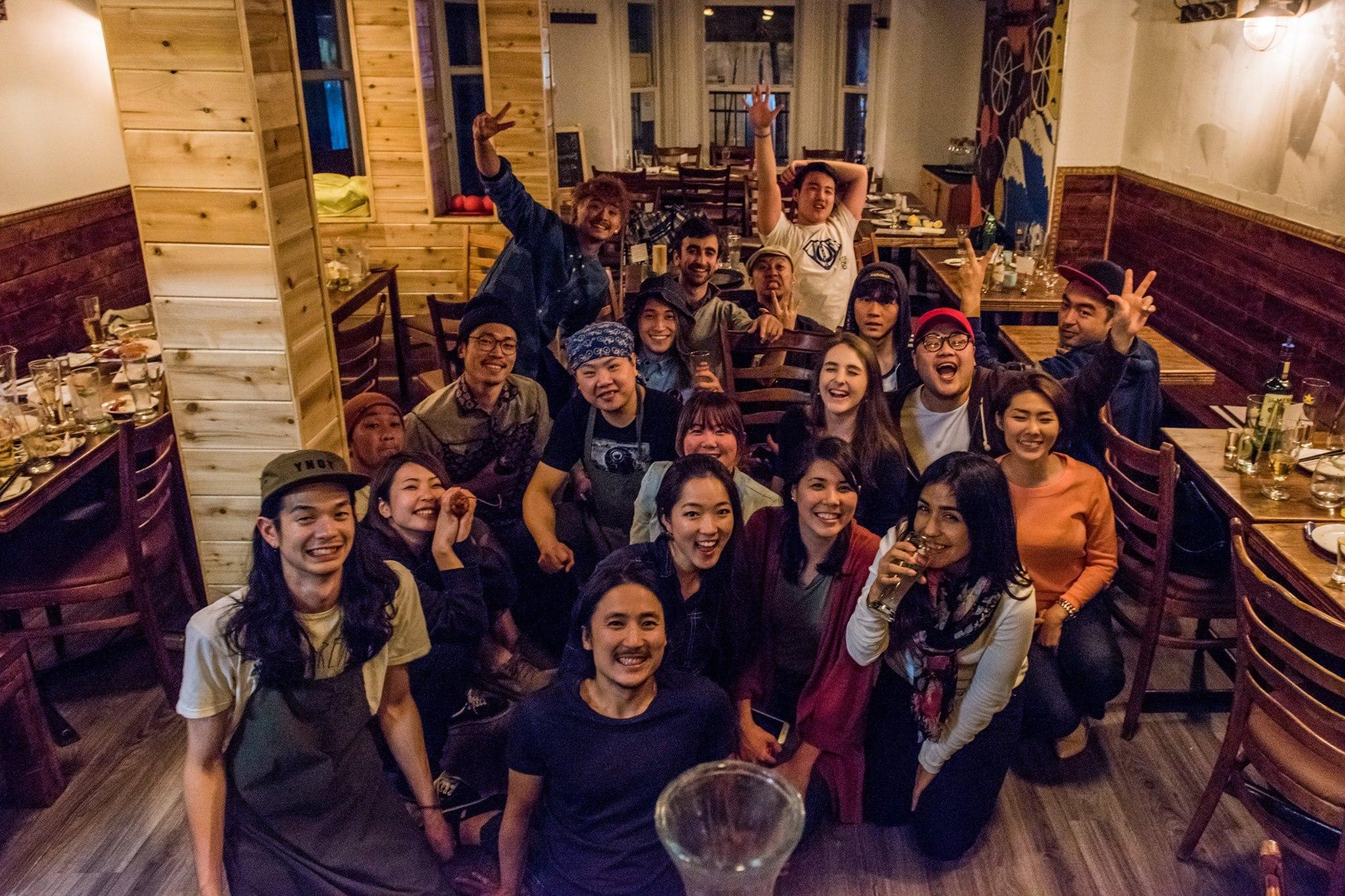 The staff at yakitori standout, Otto