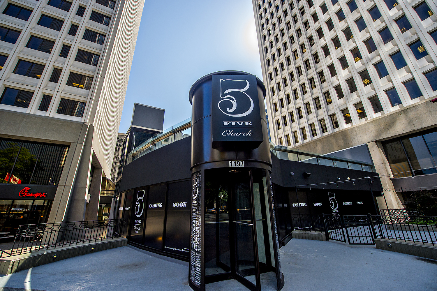 5Church is opening at Colony Square Mall on Peachtree Street in Midtown.