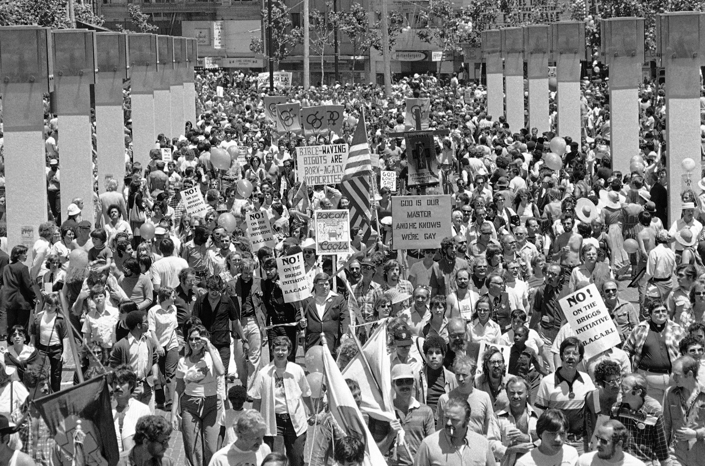 Gay Freedom Day Parade in San Francisco, 1978.