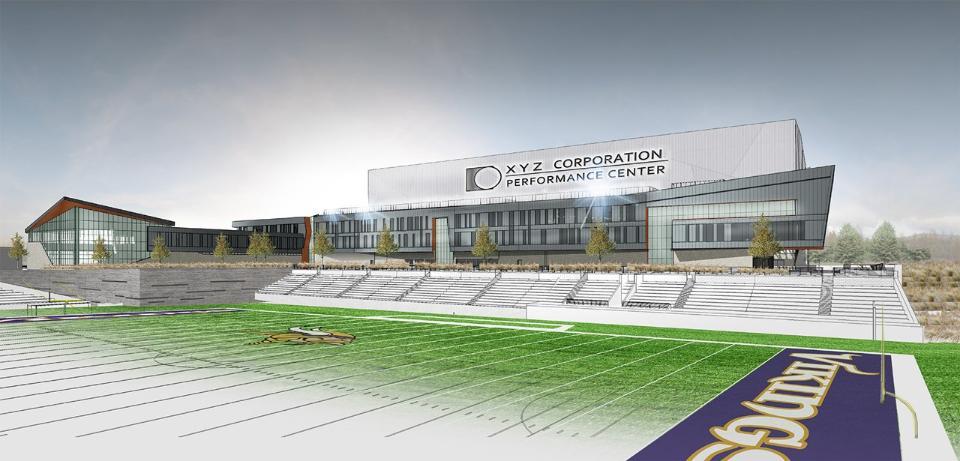 Artist rendering of the new Vikings Headquarters in Eagan