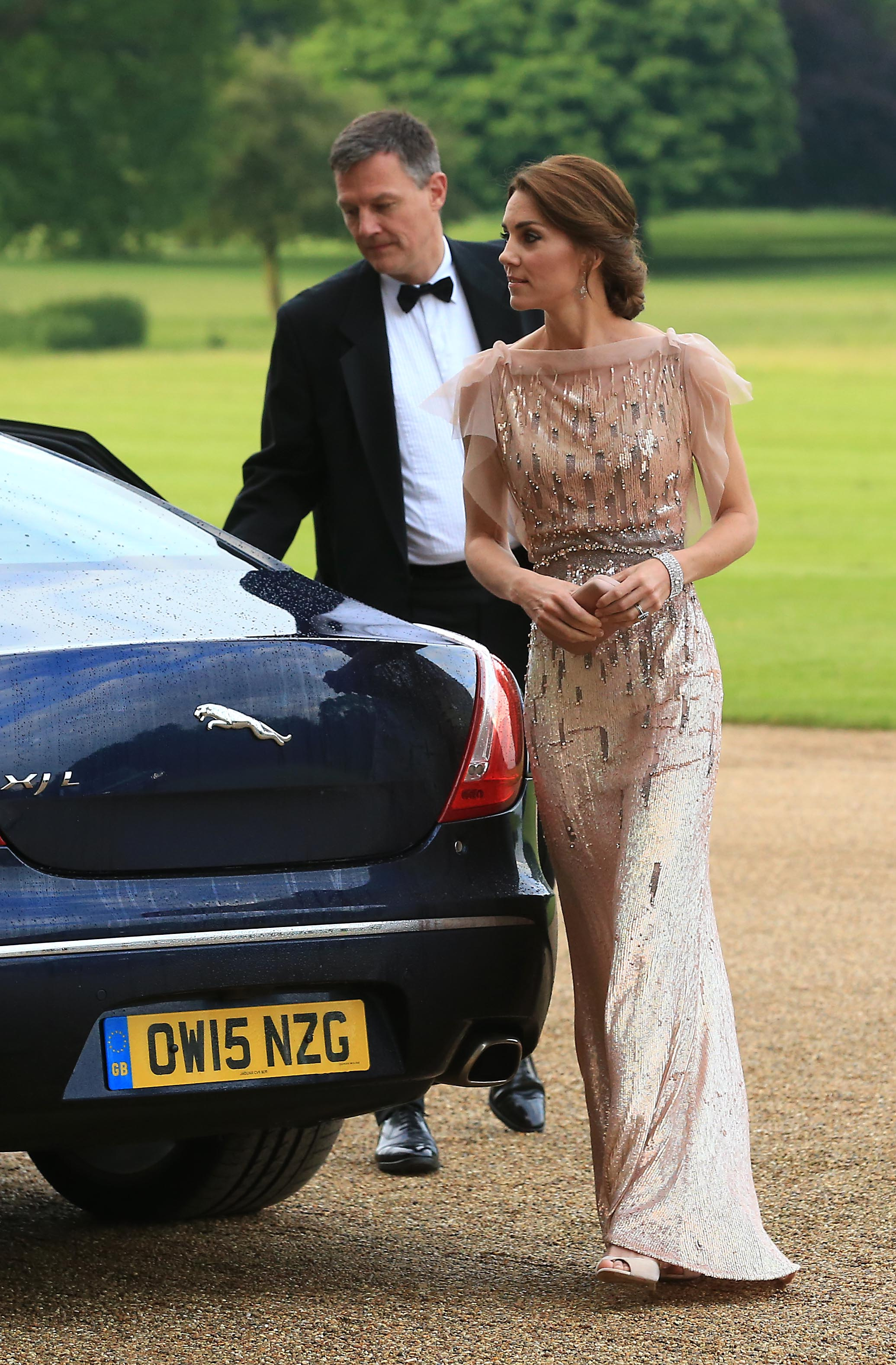 Kate Middleton in Jenny Packham at a gala dinner in support of East Anglia's Children's Hospices' nook appeal at Houghton Hall on June 22, 2016 in King's Lynn, England.