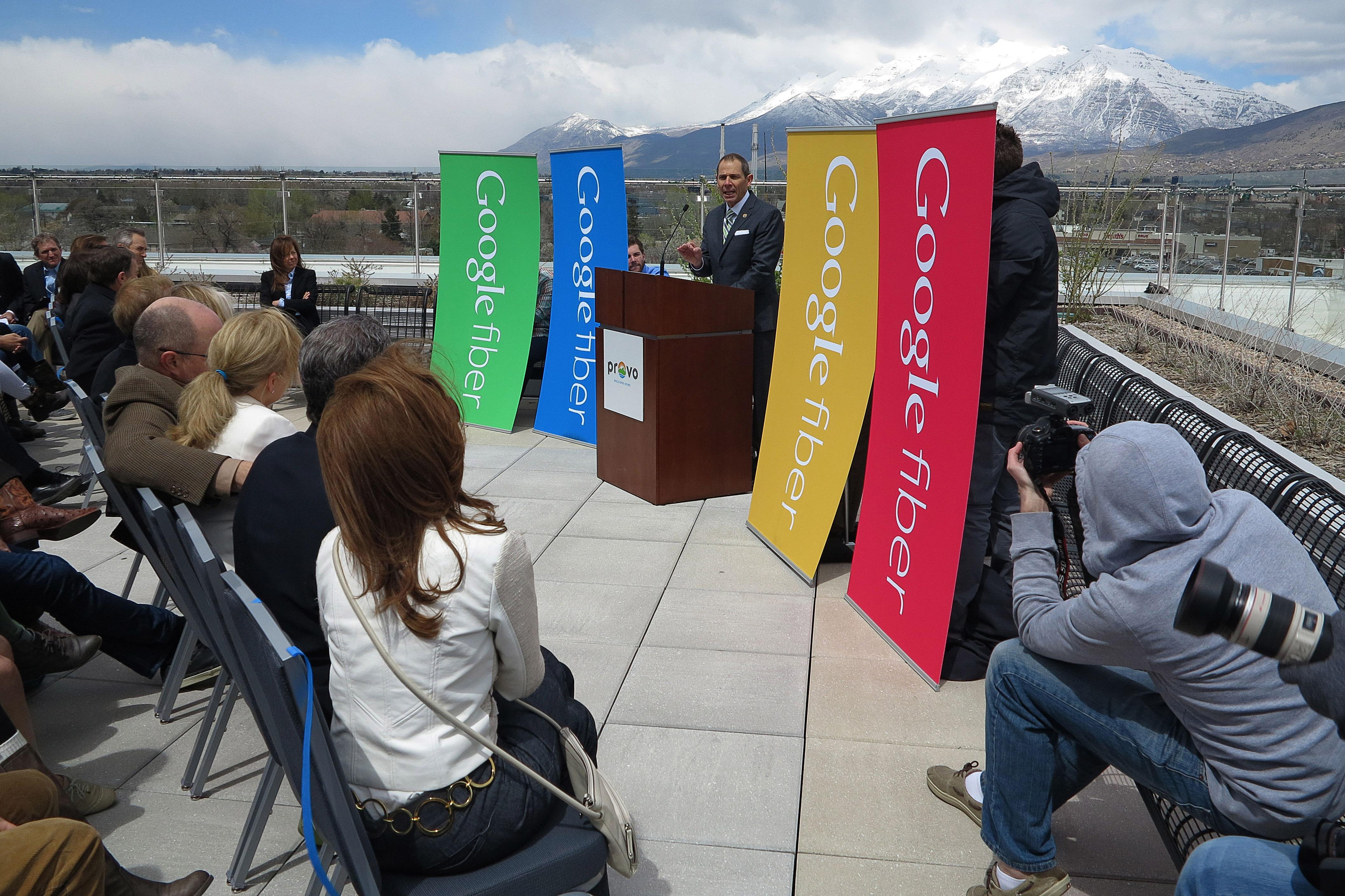 Google's Fiber launch in Provo, UT.