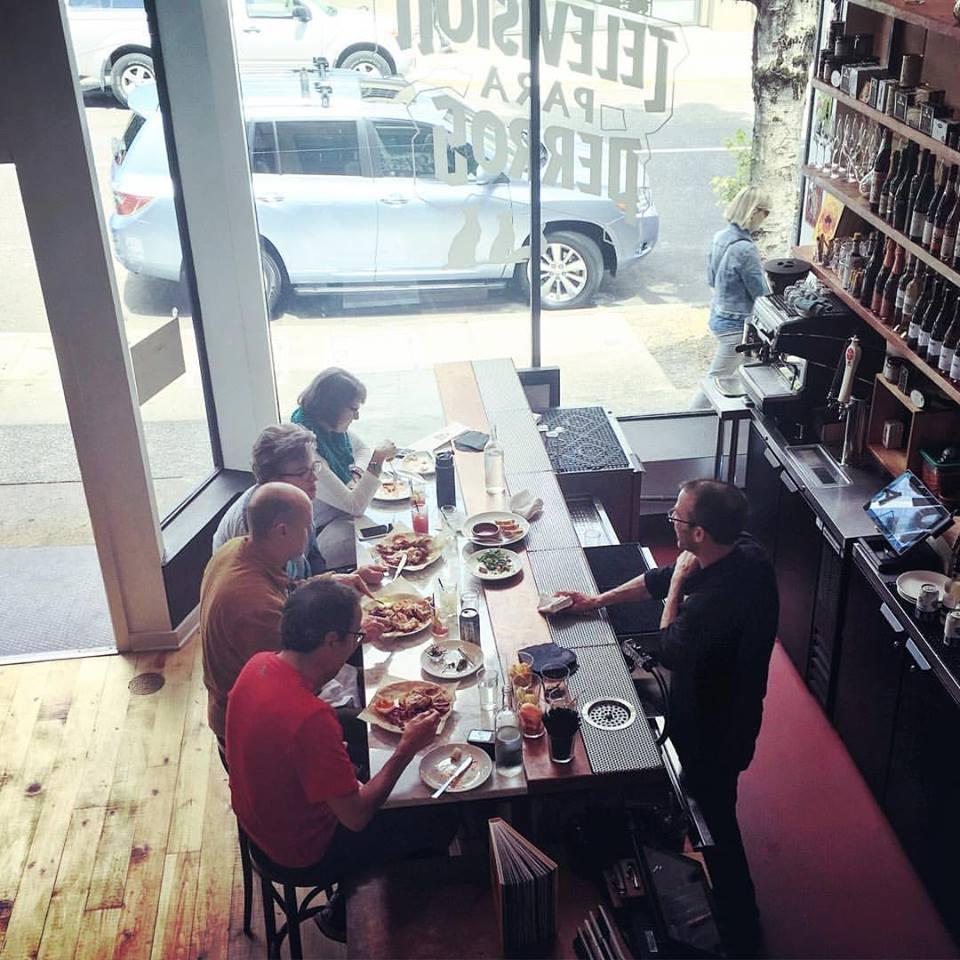 The bar area at Pollo Bravo on Alder