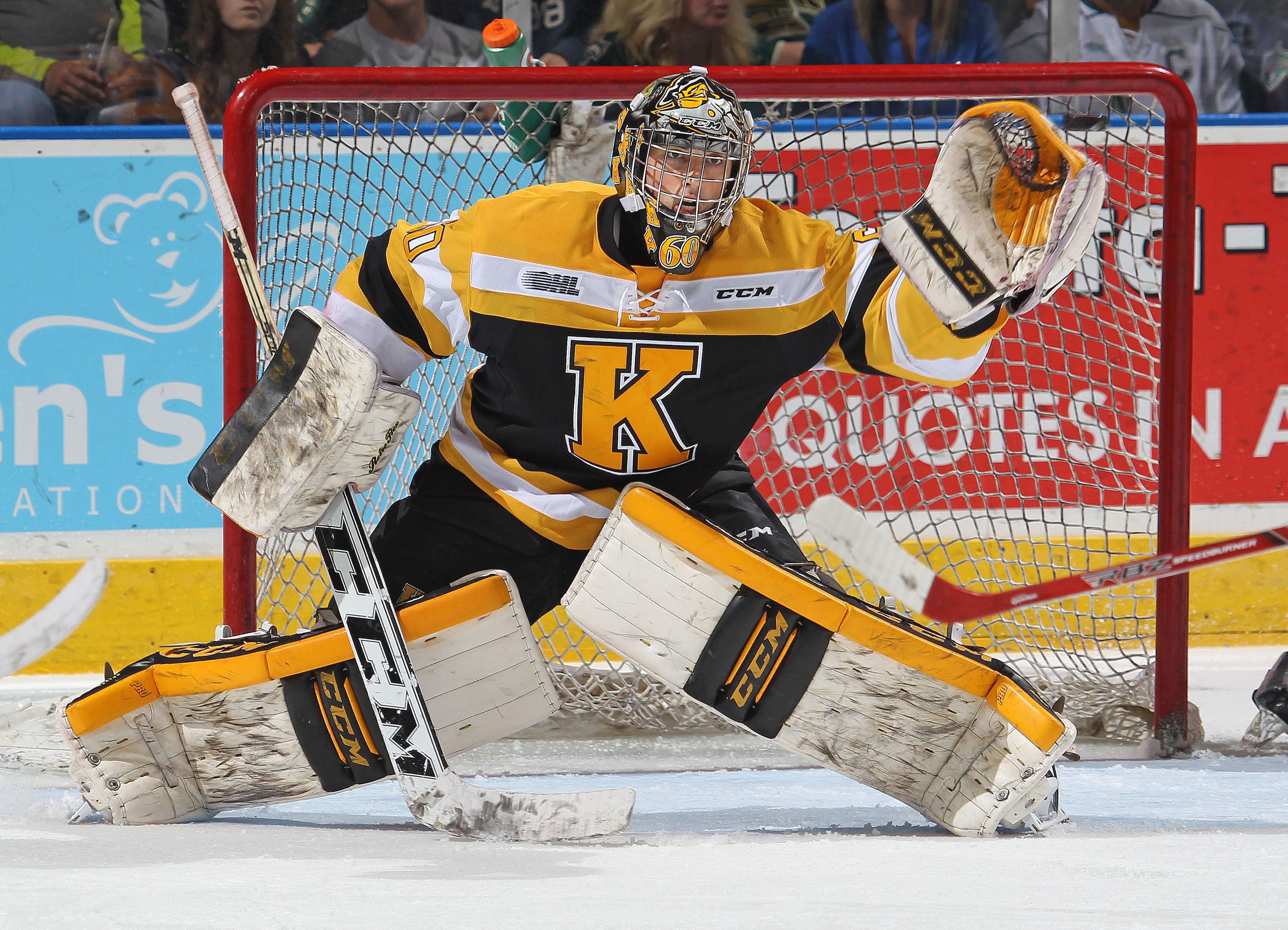 Hurricanes fifth round pick, Jeremy Helvig in net.