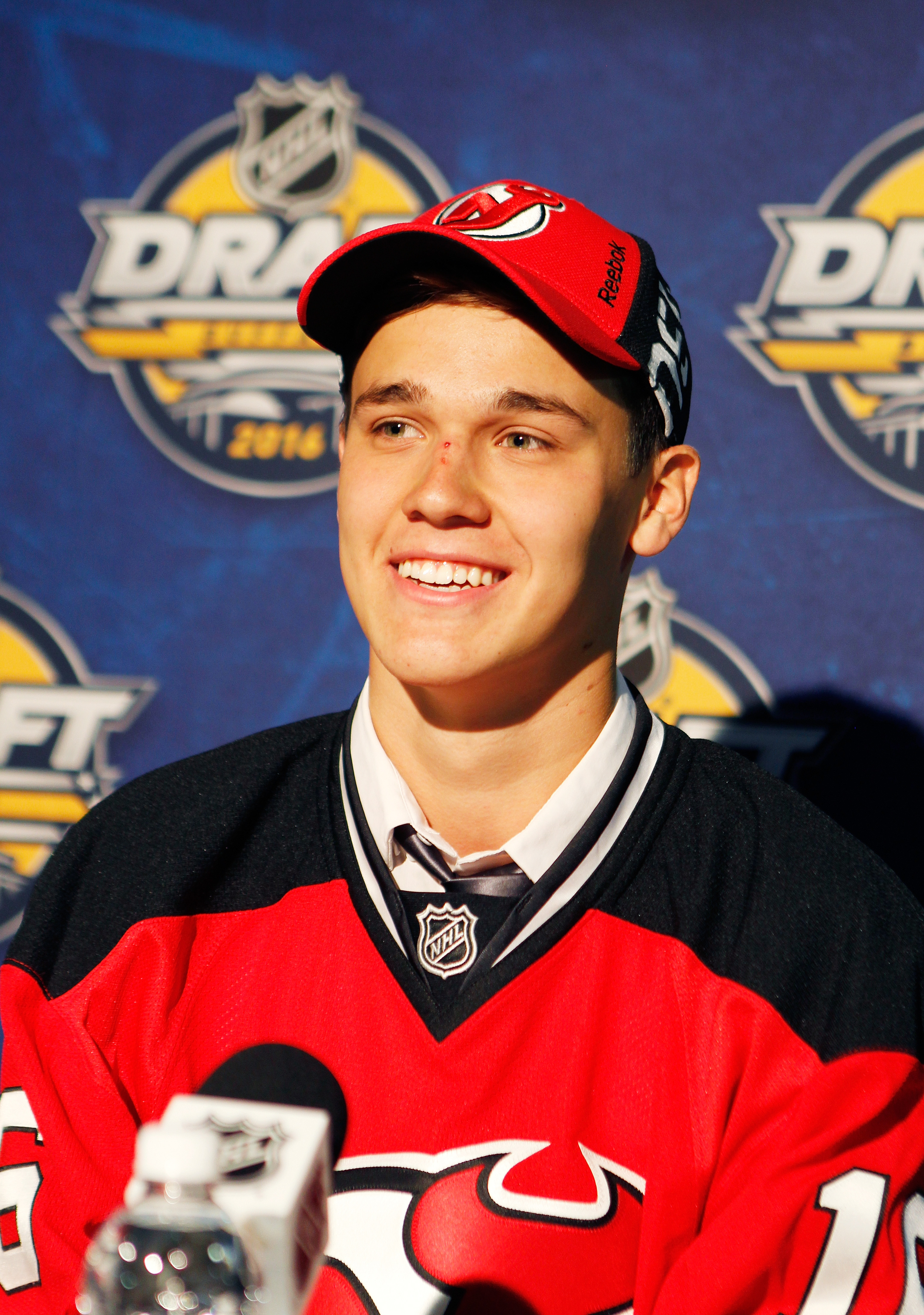 Maltsev took questions at the draft; he'll be doing more as a Devils prospect in the near future.
