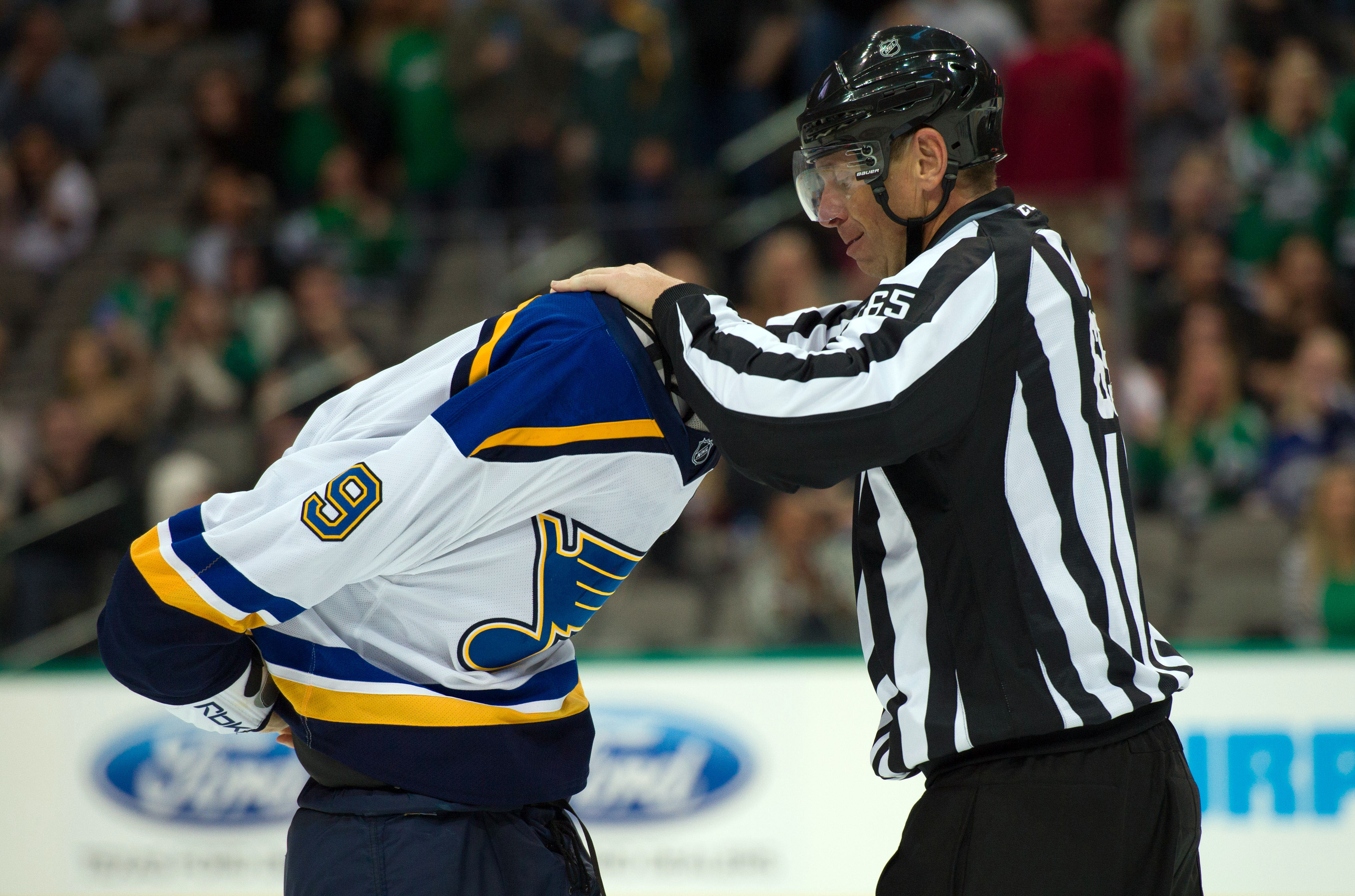 Even the linesmen don't want to see Steve Ott.