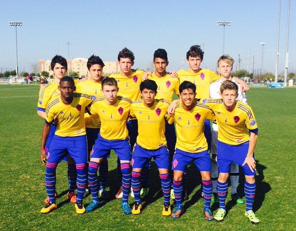 The Rapids Academy U16s matchday photo against New England Revolution U16s.