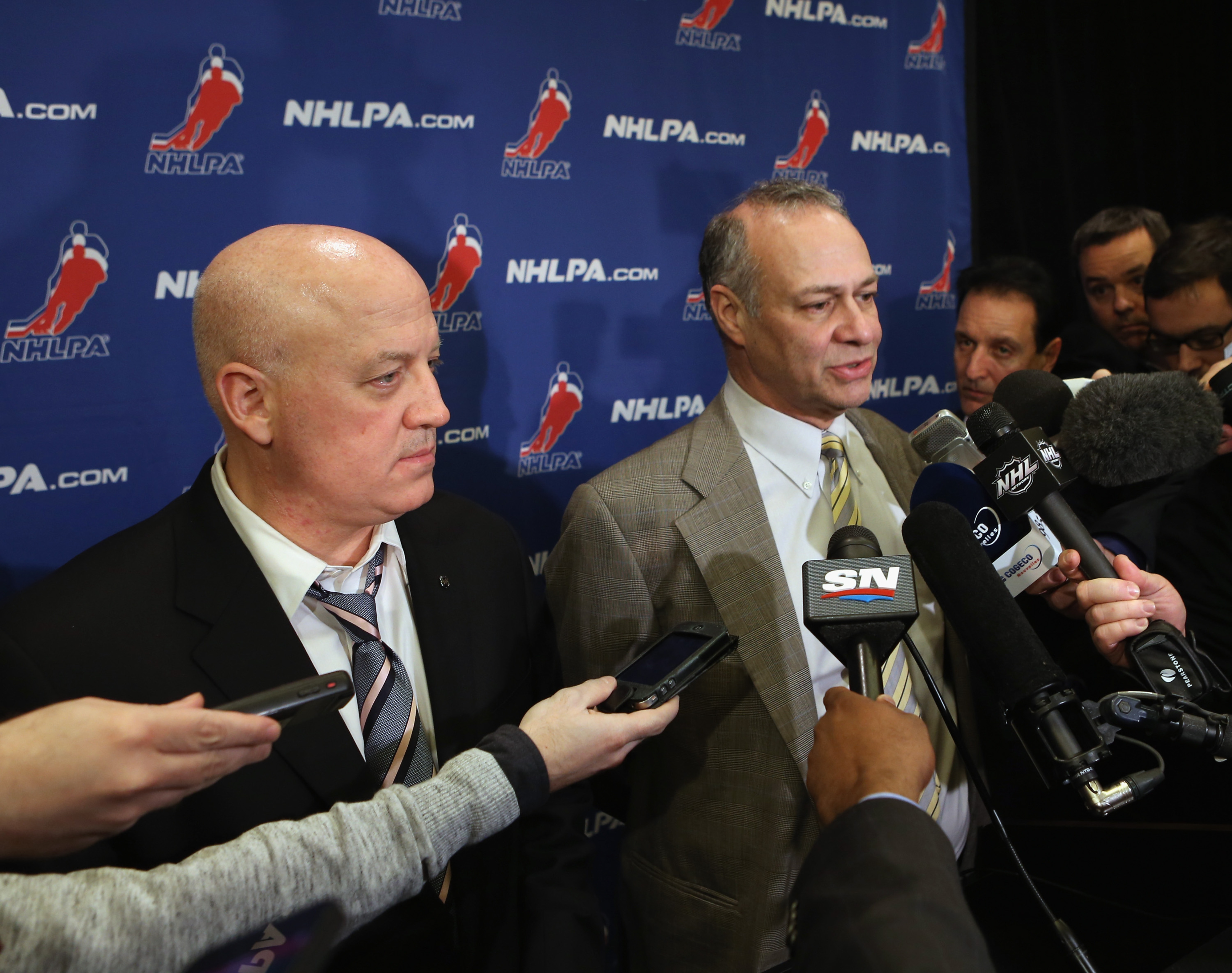 Two of the faces of the NHL lockout: NHL Deputy Commissioner Bill Daly (left) and NHLPA Special Counsel Steve Fehr (right).