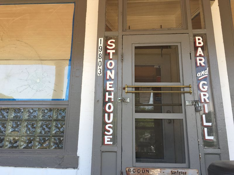 The Stonehouse Bar is located in an 19th century farmhouse near 7 Mile and Woodward.