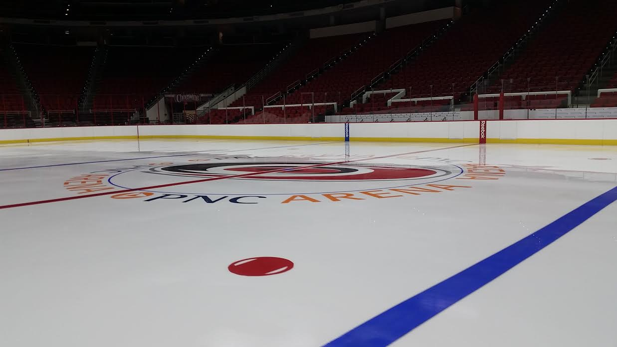 A fresh sheet of ice is ready for the prospects next week at the PNC Arena