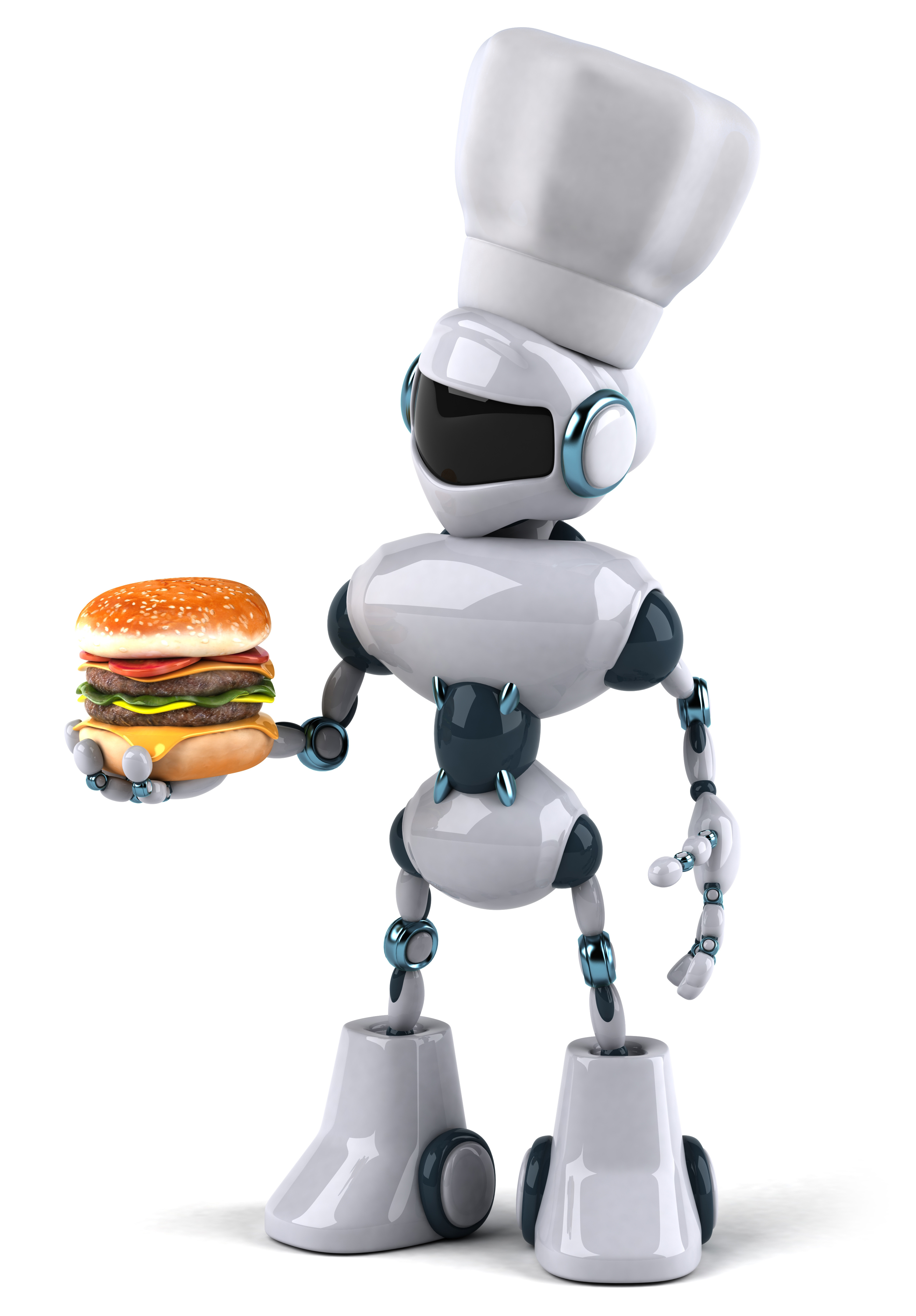 Note: not what the burger robots will actually look like.