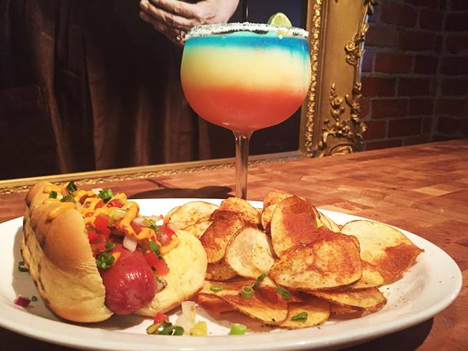 La Loma's Red, White, and Blue Margarita