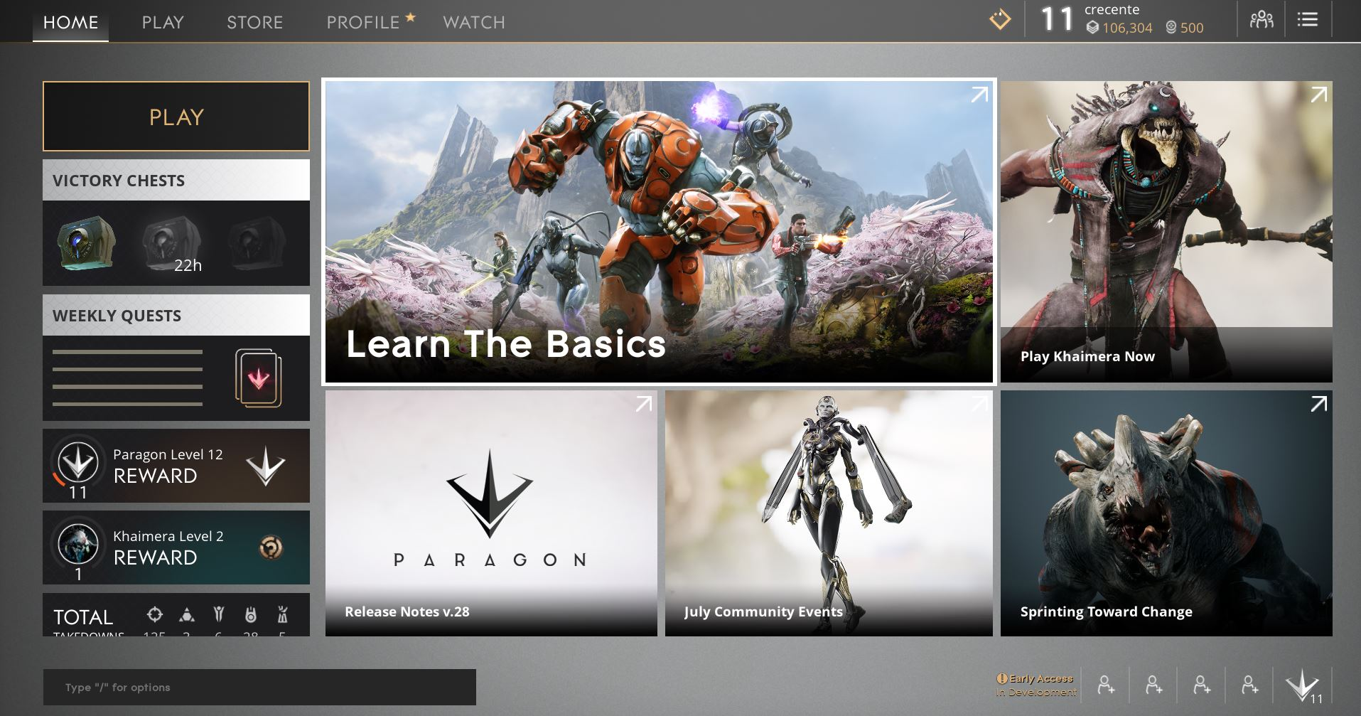 Paragon overhaul lands with reworked characters, slick new landing screen