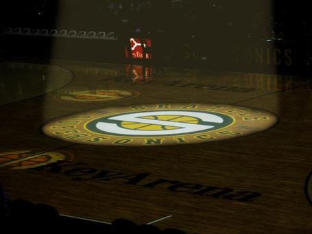Sonics Center Court at Key Arena