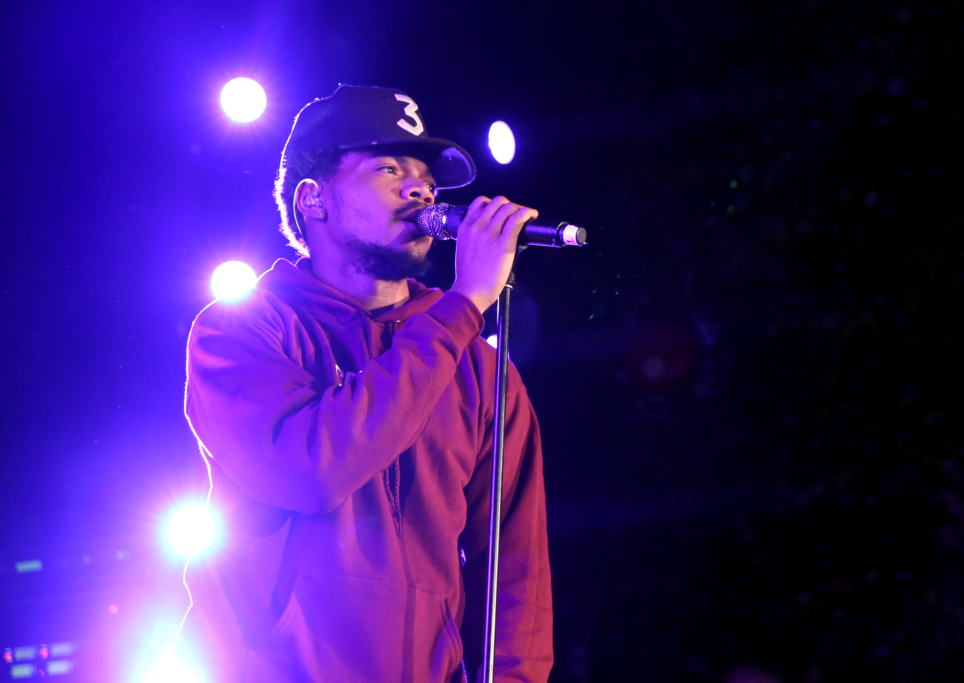 Chance the Rapper onstage