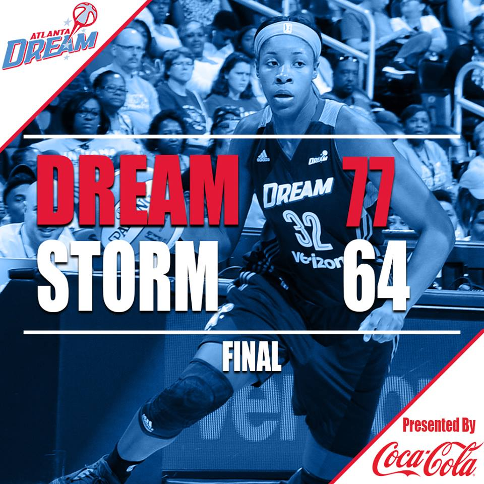 The Atlanta Dream win at home over the Seattle Storm on Tuesday.