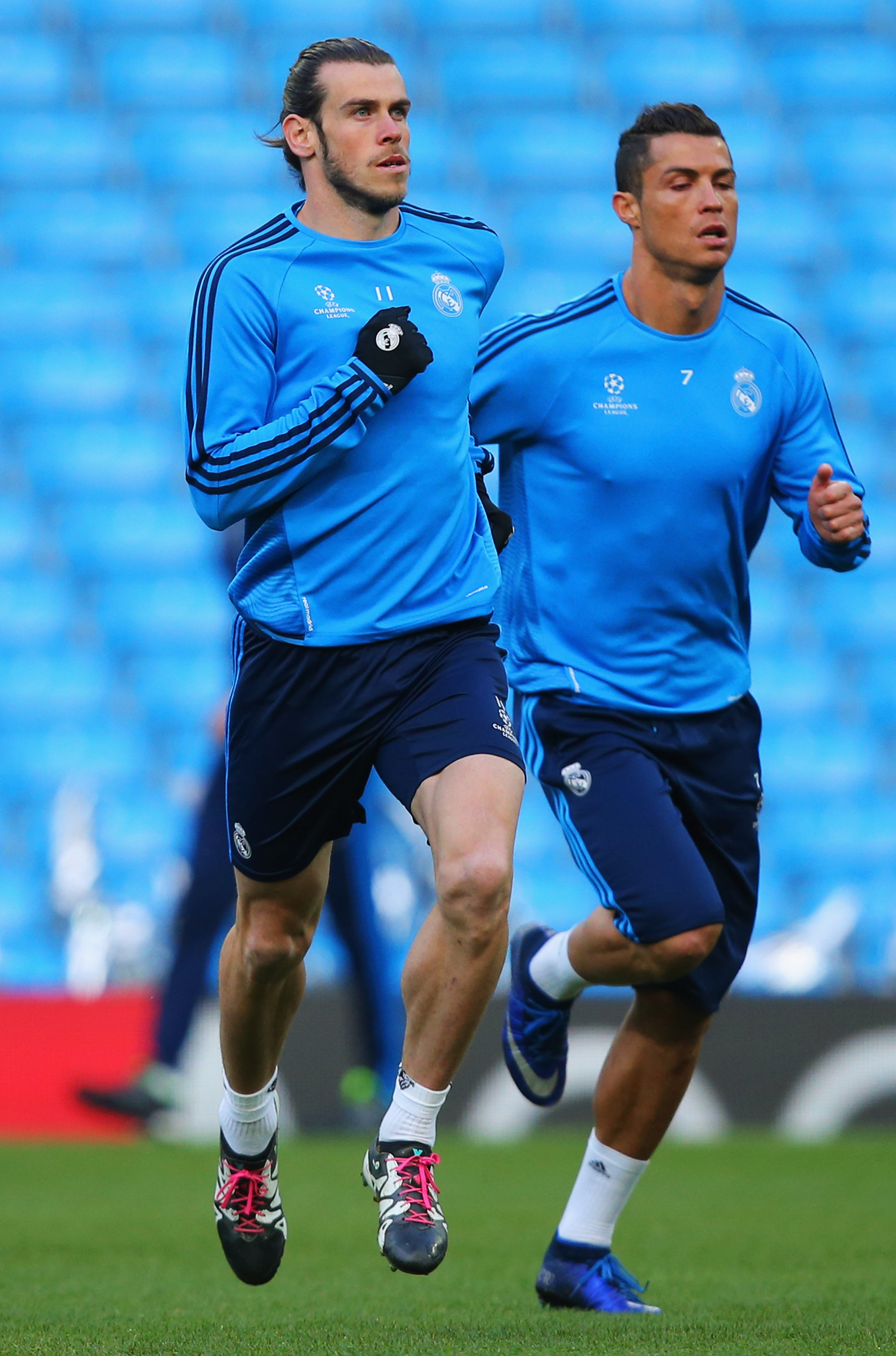Bale and Ronaldo, not teammates today.