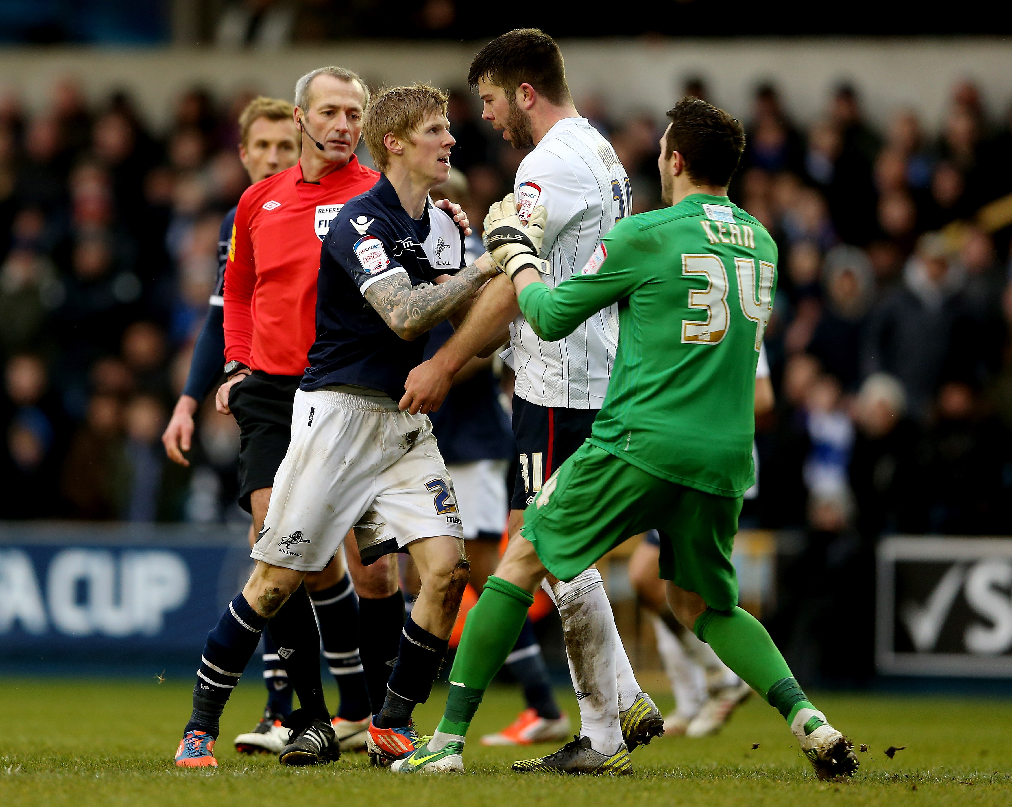 Grant Hanley doesn't take shit from anyone. Not even you, Millwall.