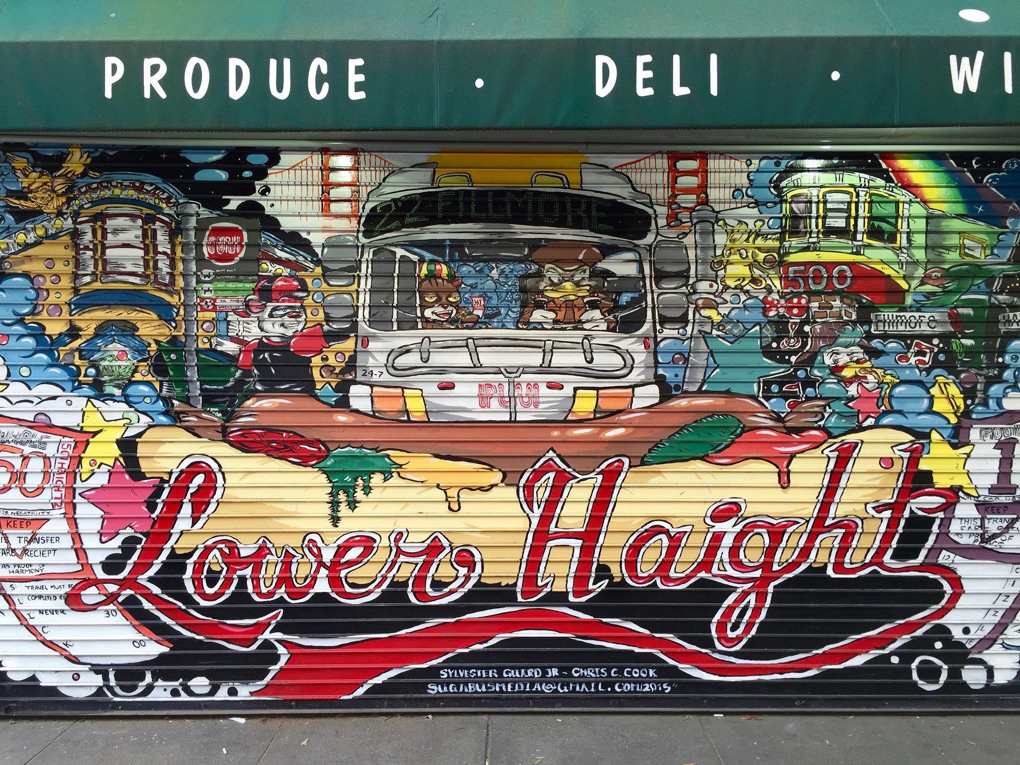 Lower Haight mural.