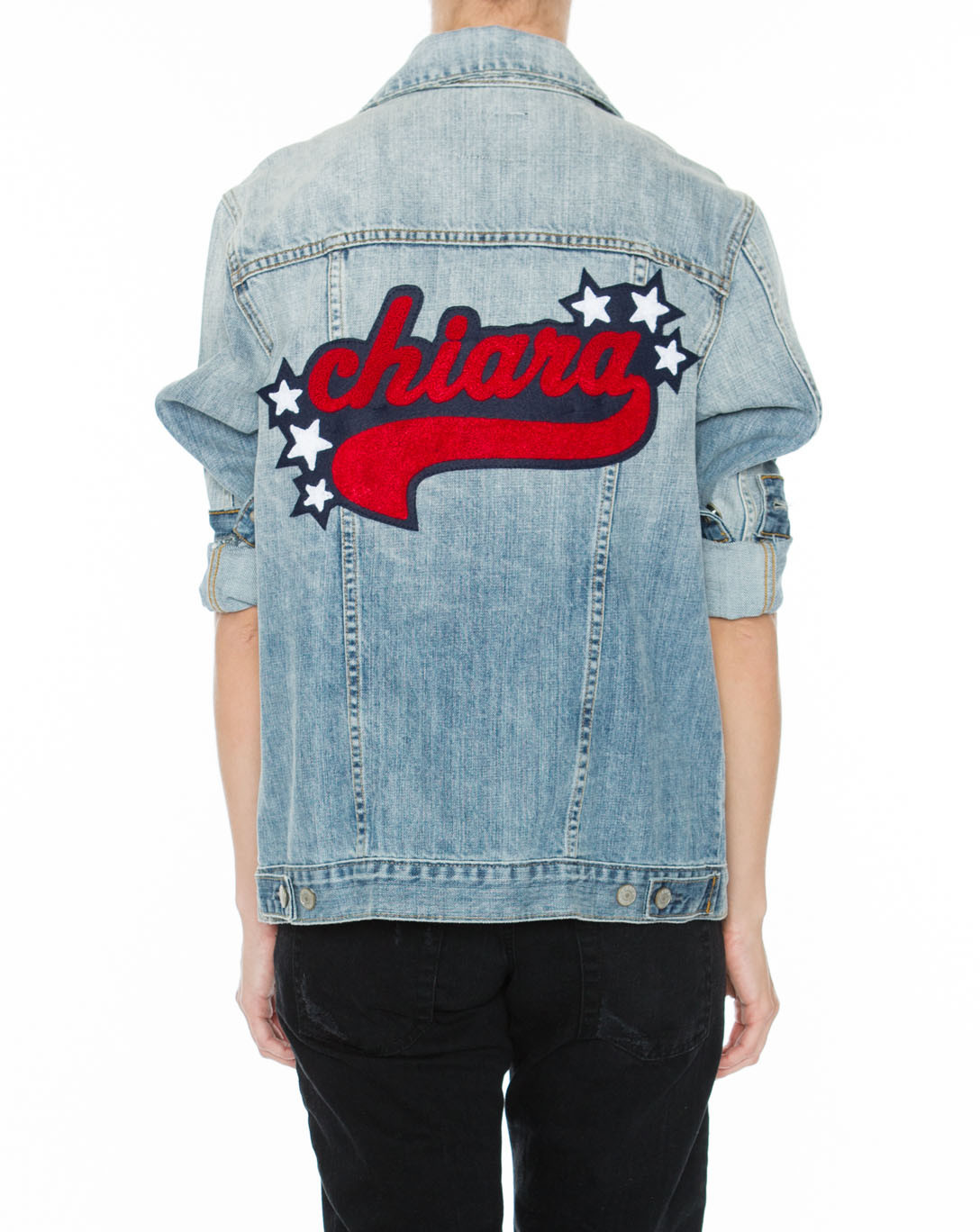 """Rails 'Knox' personalized denim jacket,  <a href=""""http://www.railsclothing.com/collections/summer-16/products/knox-personalized"""" target=""""_blank"""">$275</a>"""