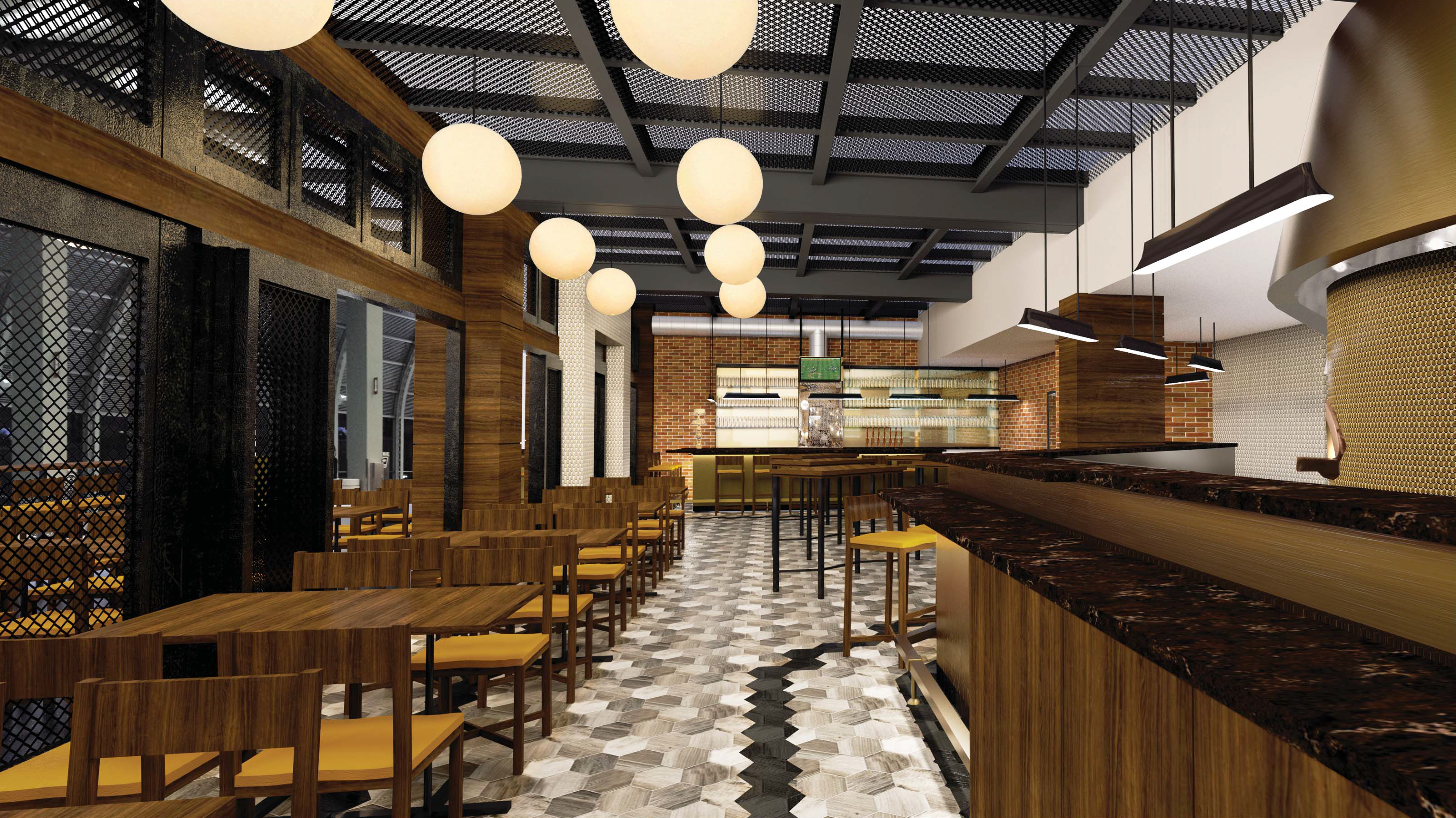 A rendering of Publican Tavern at O'Hare